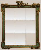 1 Spiegel im Rokokostil lt. EL: wohl um 1760 Holz plastisch beschnitzt m. Blumenranken