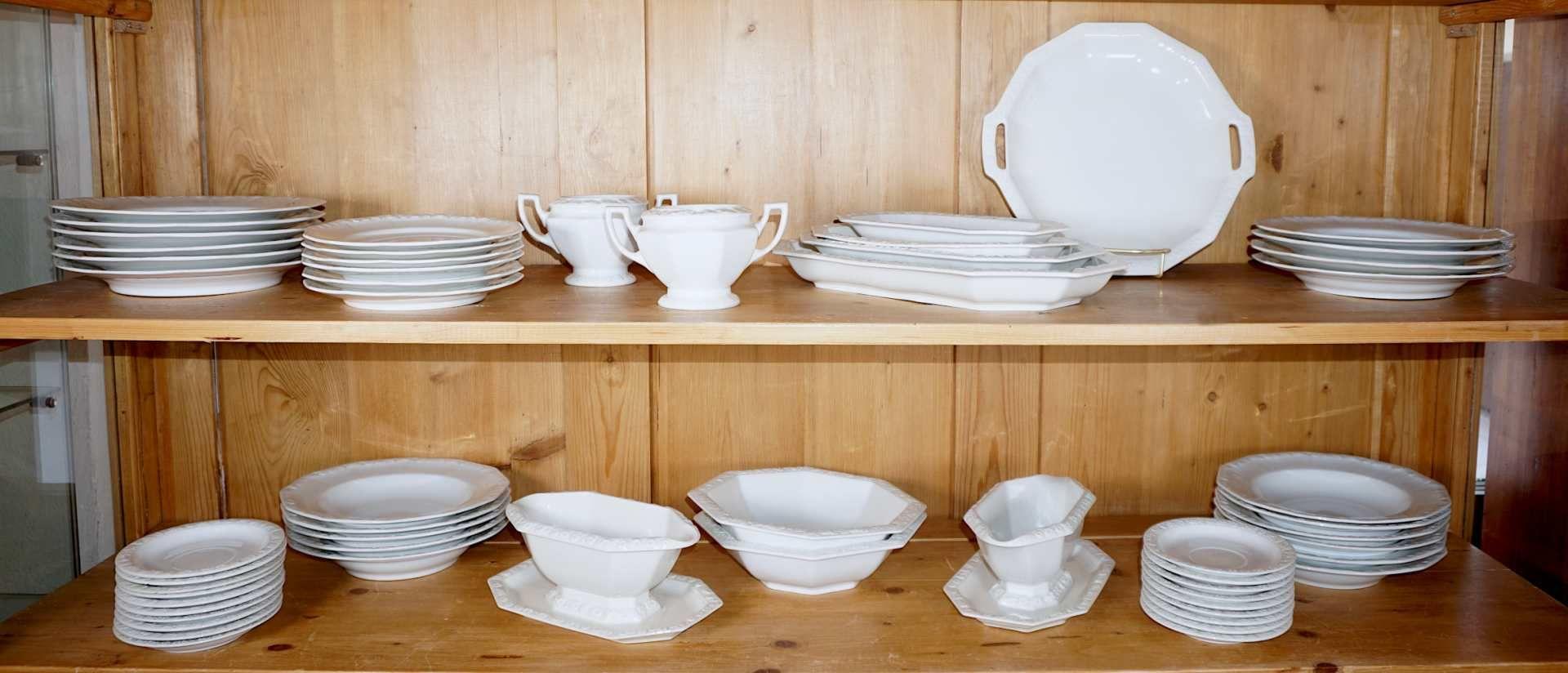 """1 Konv. Porzellan ROSENTHAL """"Maria"""" weiß u.a. Platten, Saucieren, Schüsseln, Teller, - Bild 2 aus 2"""