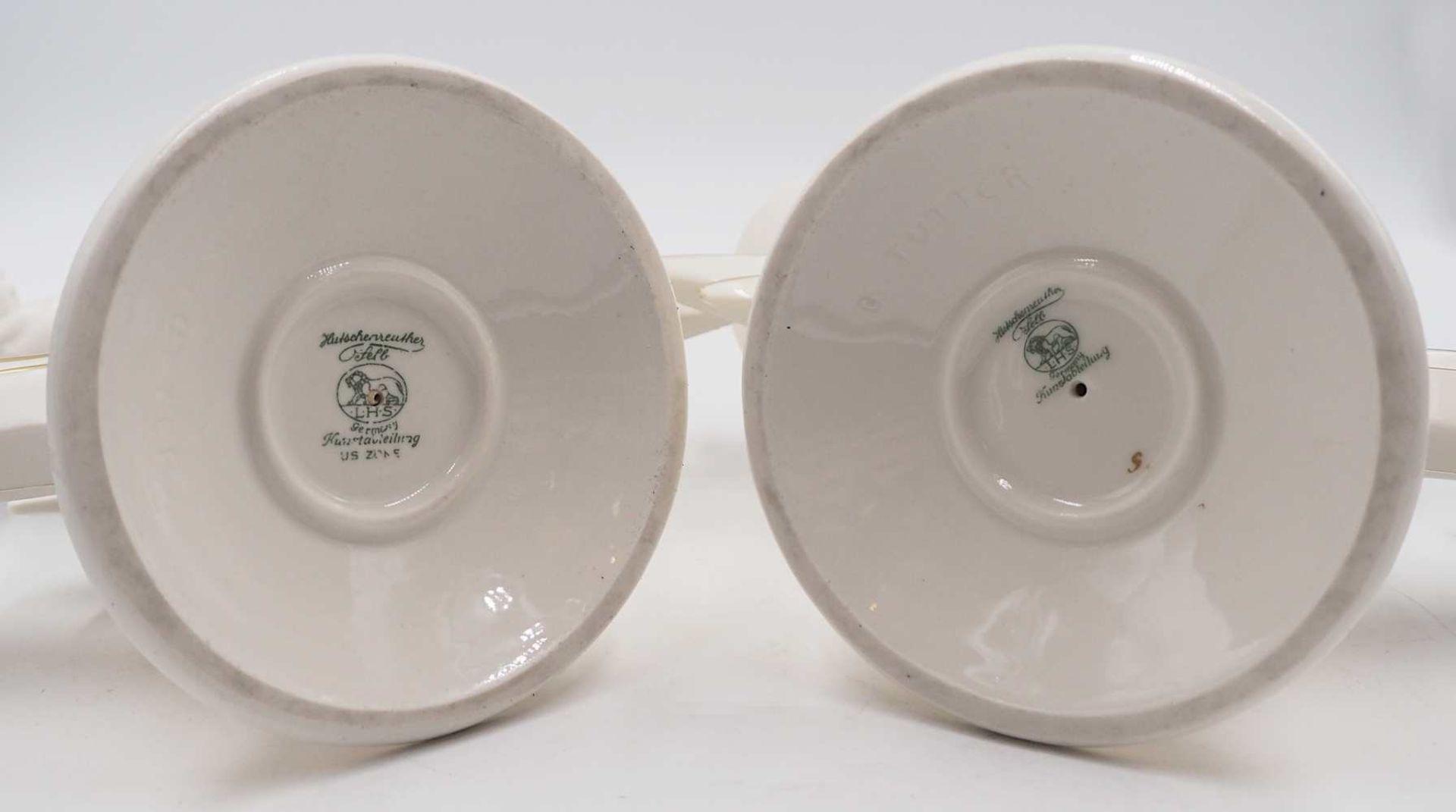 1 Pendant Kerzenleuchter Porzellan HUTSCHENREUTHER, z.T. US-Zone Designer: K. TUTTER, - Bild 5 aus 5