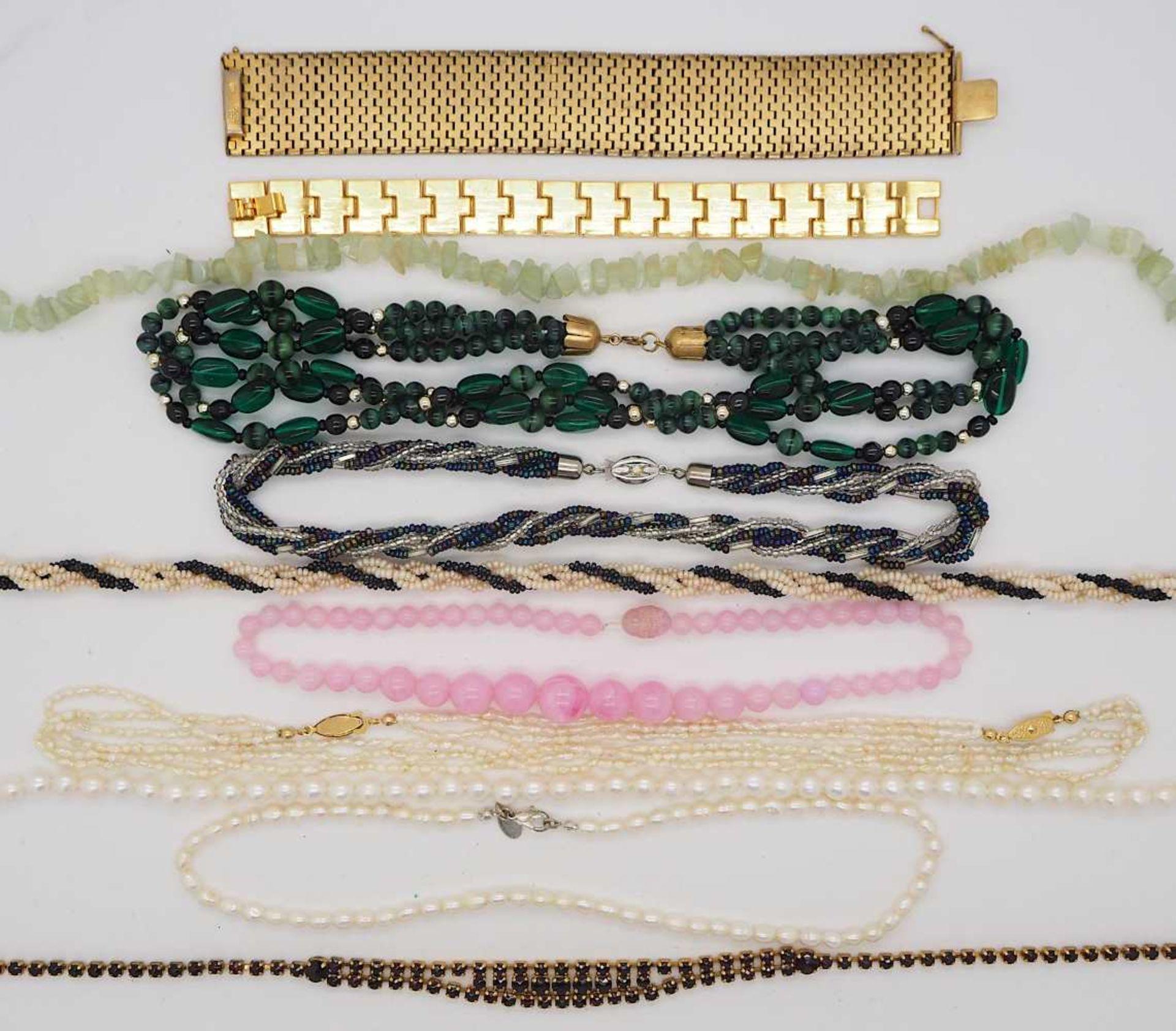 1 Konv. Schmuck Silber/Mode u.a., im hellen Beautycase - Bild 2 aus 2