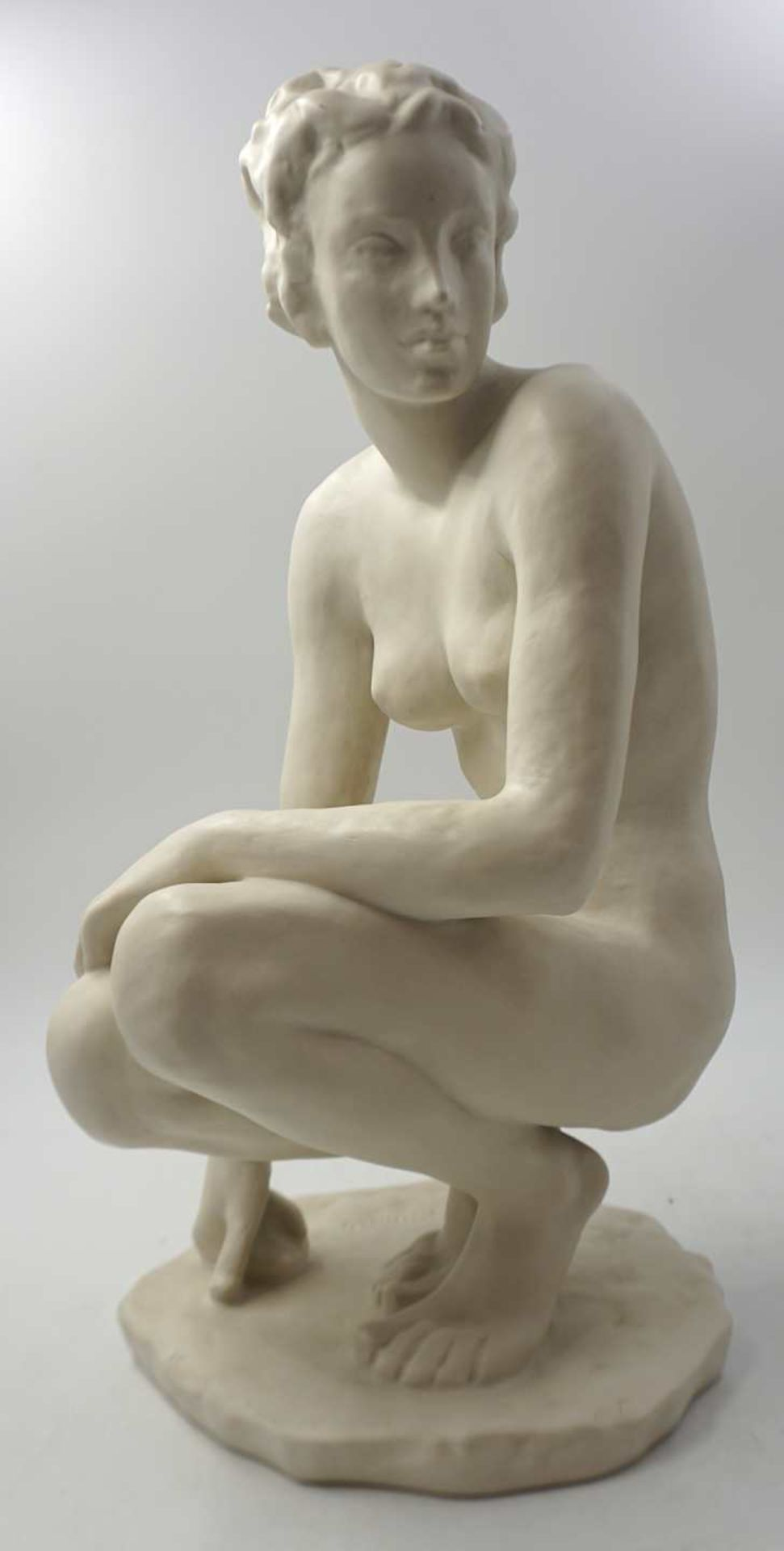 """1 Figur Bisquitporzellan ROSENTHAL """"Die Hockende"""" Design: F. KLIMSCH (wohl Fritz K. 18"""