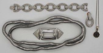 1 Konv. Schmuck Silber/Mode u.a., z.T. DIOR