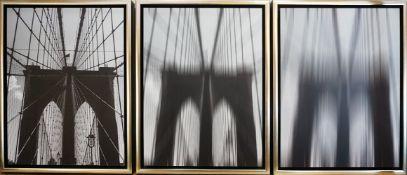 """1 Serie aufwendig gedruckter Fotographien """"Brooklyn Bridge in 3 Geschwindigkeiten"""" Her"""