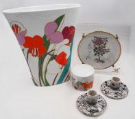1 Vase Porzellan ROSENTHAL studio-line, wohl 1970er Jahre, Design: W. BAUER weißer Fo
