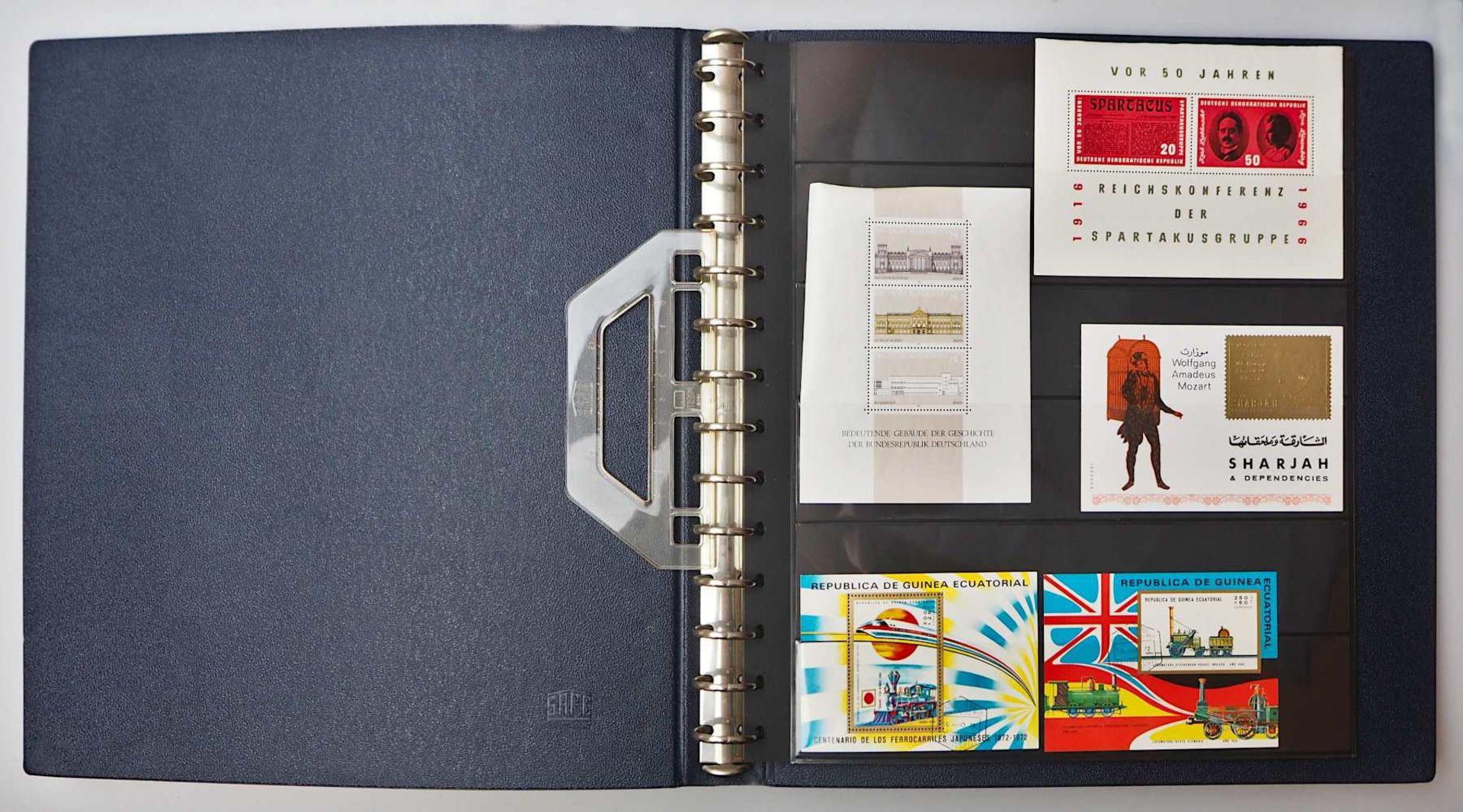 1 Konv. Briefmarken in 3 Alben, 2. Hälfte 20. Jh.: BRD, Alle Welt, z.T. Sondermarken - Bild 4 aus 4