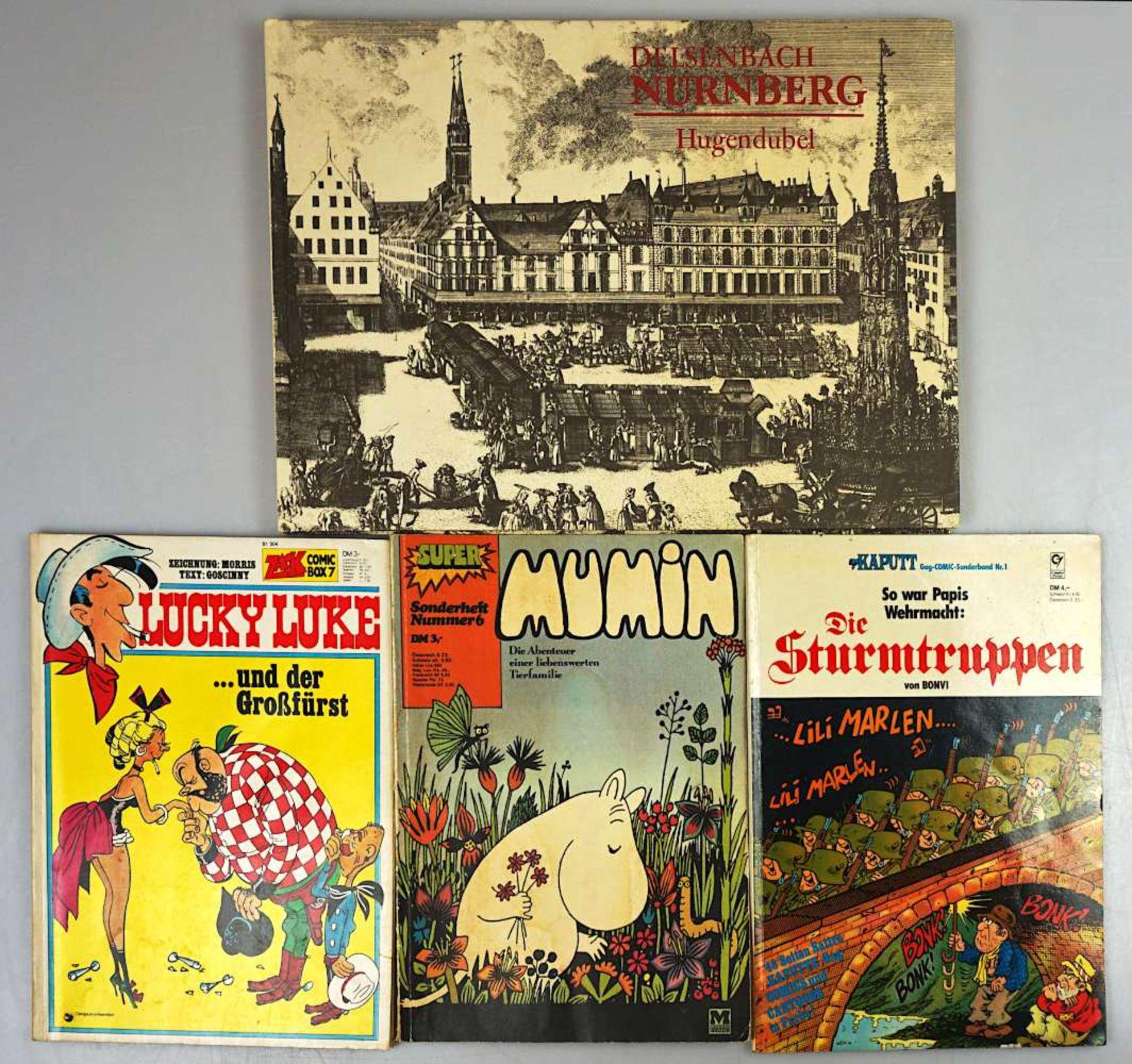 """1 Konv. Bücher u.a., z.T. 2. WK u.a. """"Mein Kampf"""" München 1940 mit Widmung; """"Die Ver"""