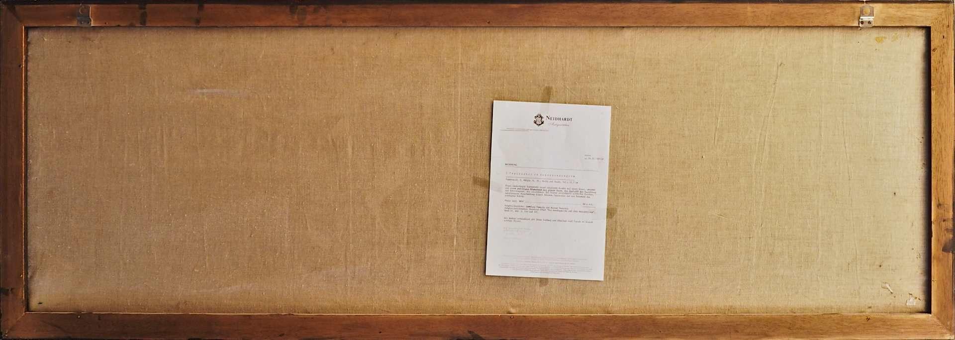 1 Tapisserie in Supraportenform, lt. Rechnung Frankreich 2. Hälfte 18.Jh., Wolle/Seid - Bild 5 aus 6