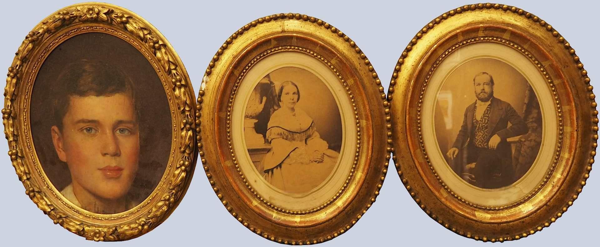 1 Konvolut Ölgemälde u.a.: Portraits von versch. Persönlichkeiten/versch. Künstler: <br - Bild 2 aus 4