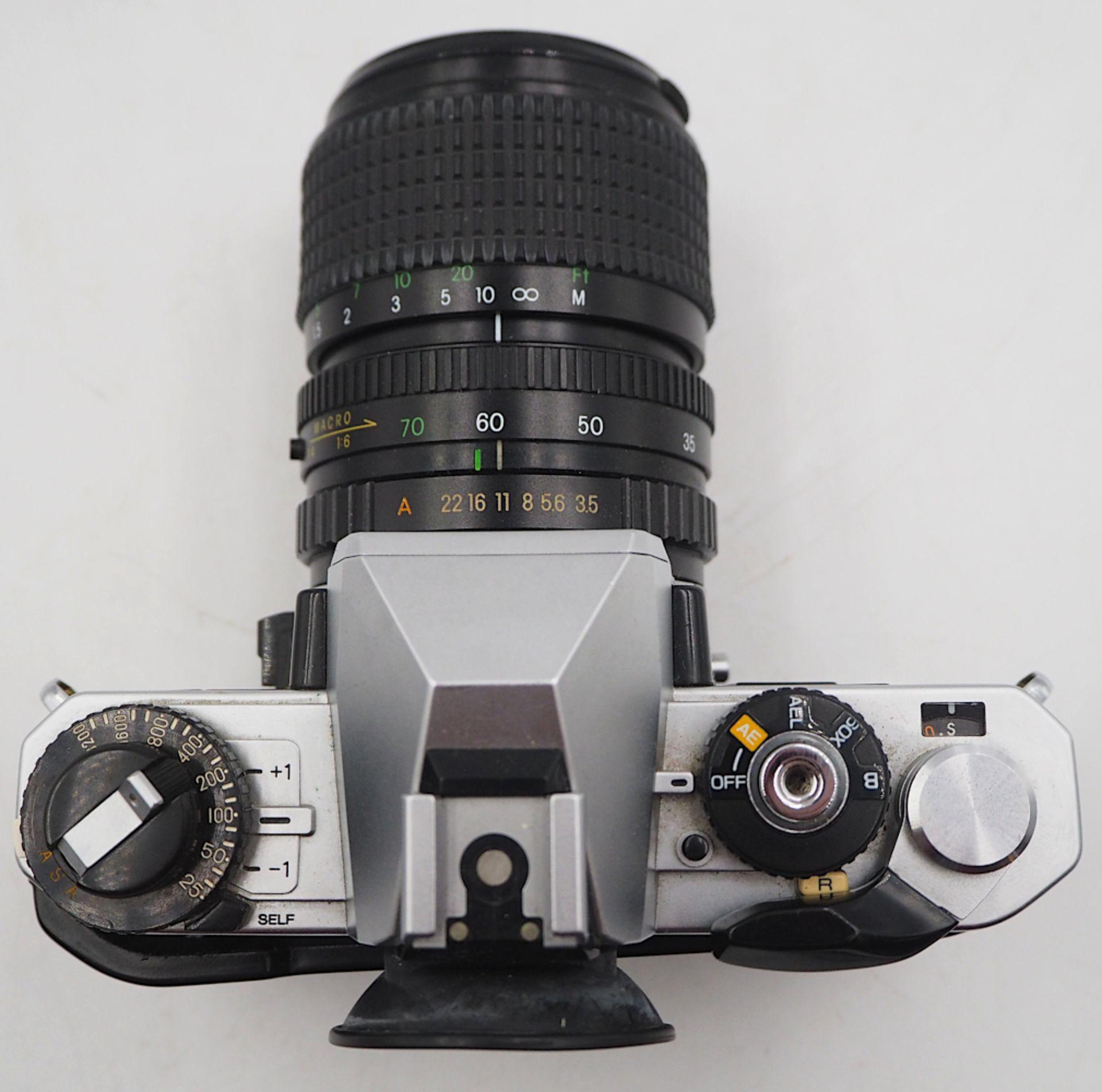"""1 Fotoapparat PORST """"CR-3 Automatic"""" mit Objektiv PORST """"Unizoom 1:3,5-4,5/35-70mm Mac - Bild 4 aus 6"""