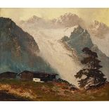 "1 Ölgemälde ""Morgenstimmung im Gebirge"" L.u. sign. ARNOLD-GRABONÉ (wohl Georg A.-G."