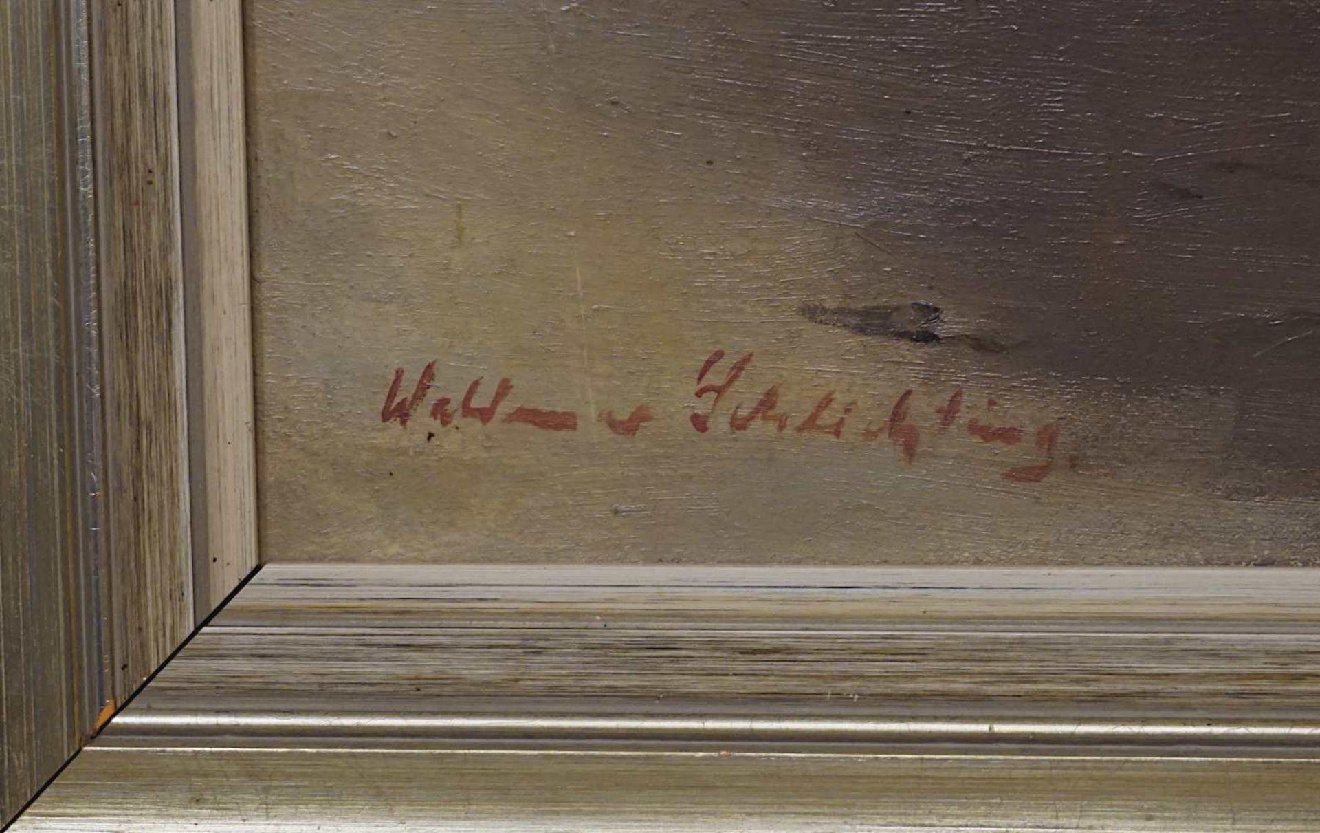 """1 Ölgemälde """"Die Kreidefelsen von Rügen"""" L.u. sign. Waldemar SCHLICHTING (wohl Wald - Bild 3 aus 3"""
