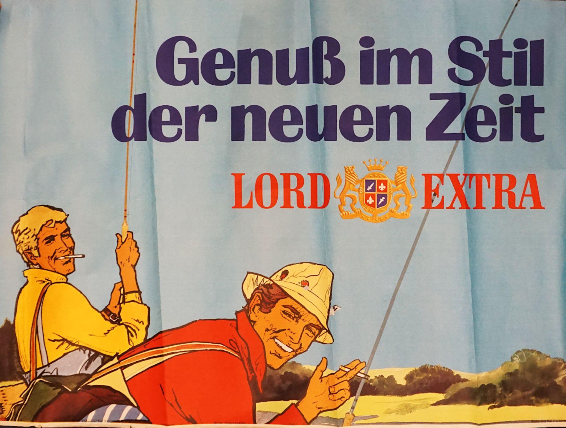 """1 Konv. Reklameplakate der Zigarettenmarke LORD wohl 1960er Jahre z.T. bez. """"Genuß im - Bild 3 aus 4"""