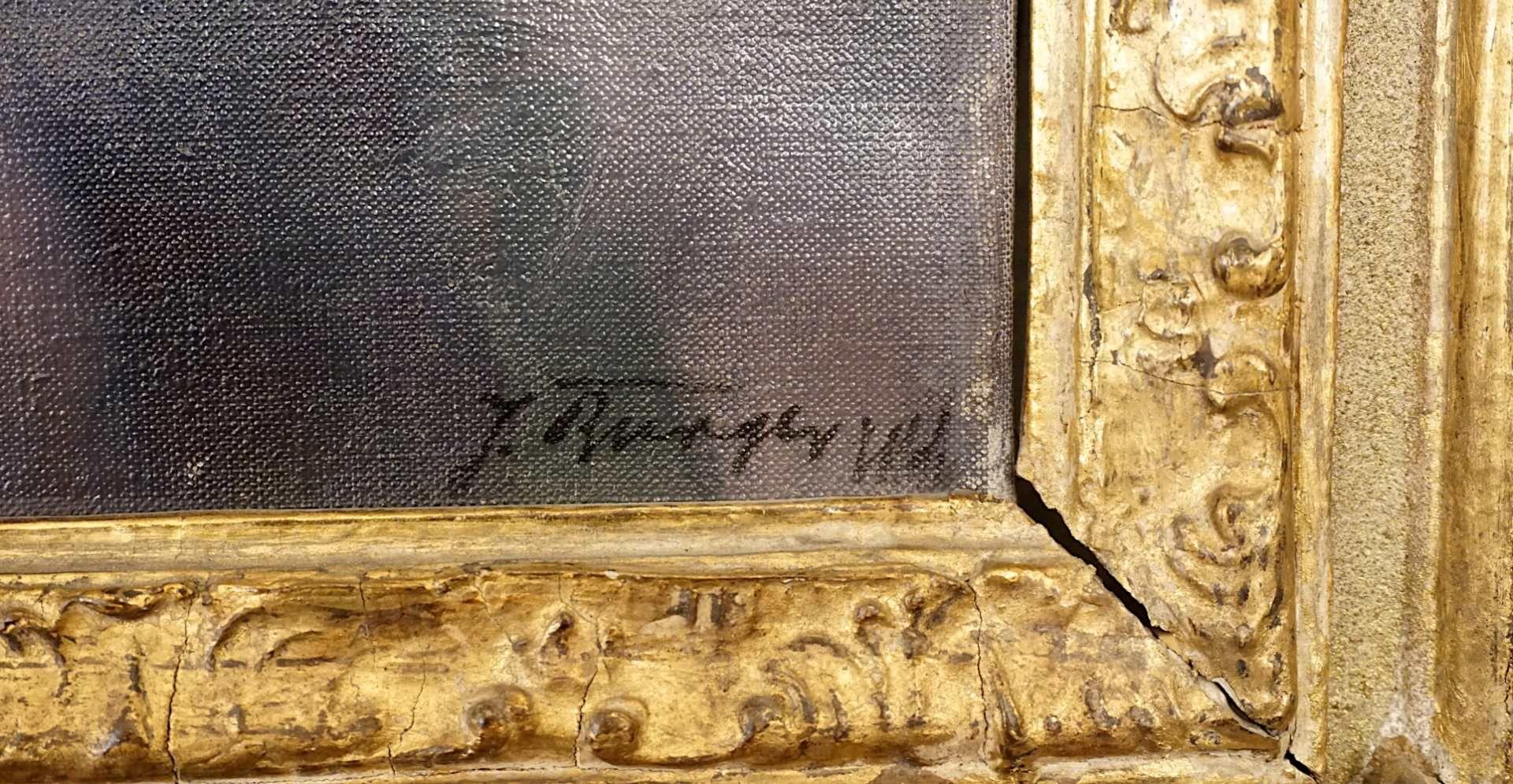 """1 Ölgemälde """"Stillleben"""" R.u. sign. J. BURGER (wohl Josef B. 1878-1966) Öl/Lwd. ca. - Bild 4 aus 4"""