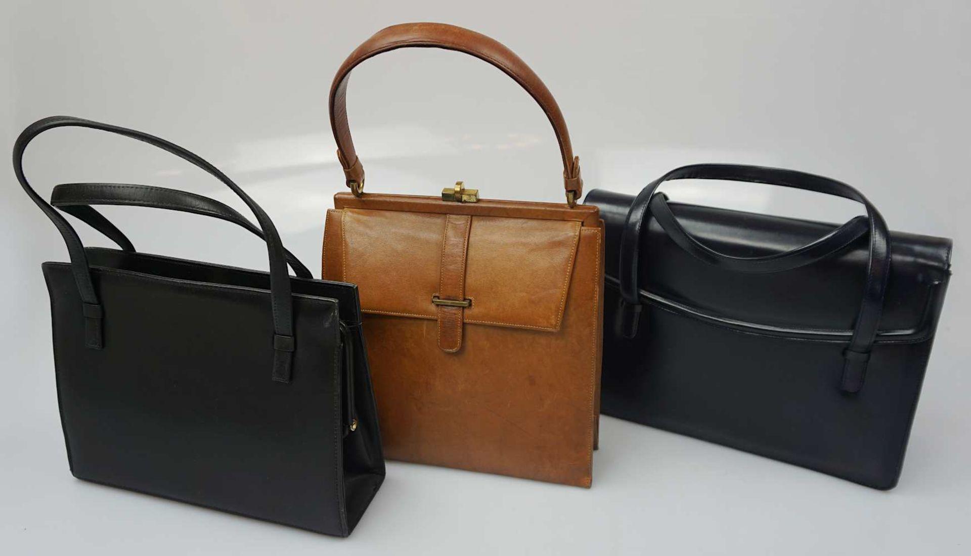 1 Konv. Hand-/Abendtaschen Straußenleder, Leder, Textil u.a. Gsp. - Bild 2 aus 5