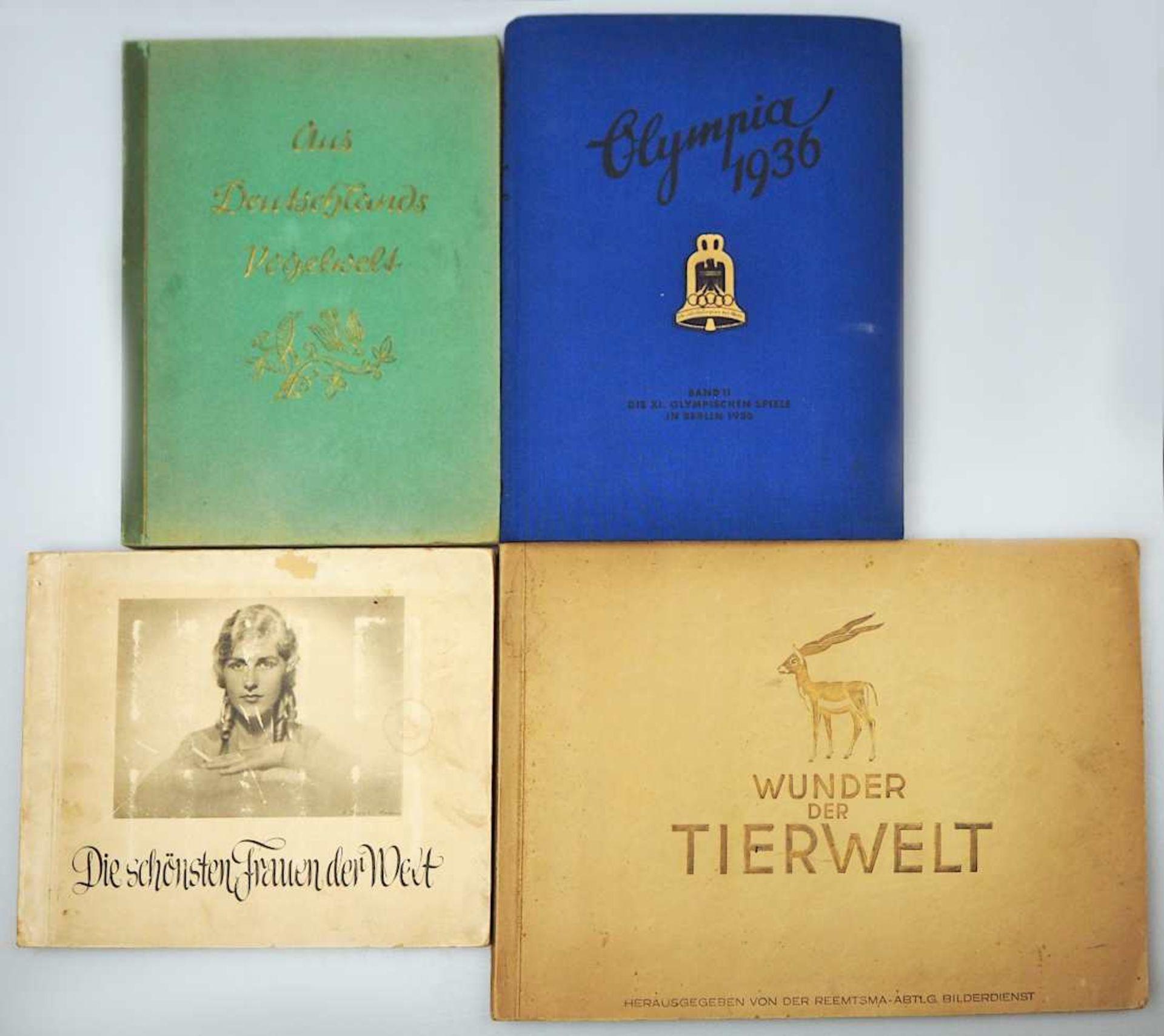 """1 Konv. Sammelbilderalben, 1 Hälfte 20. Jh.: """"Deutsche Kultur Bilder"""",""""Wunder der Tie"""