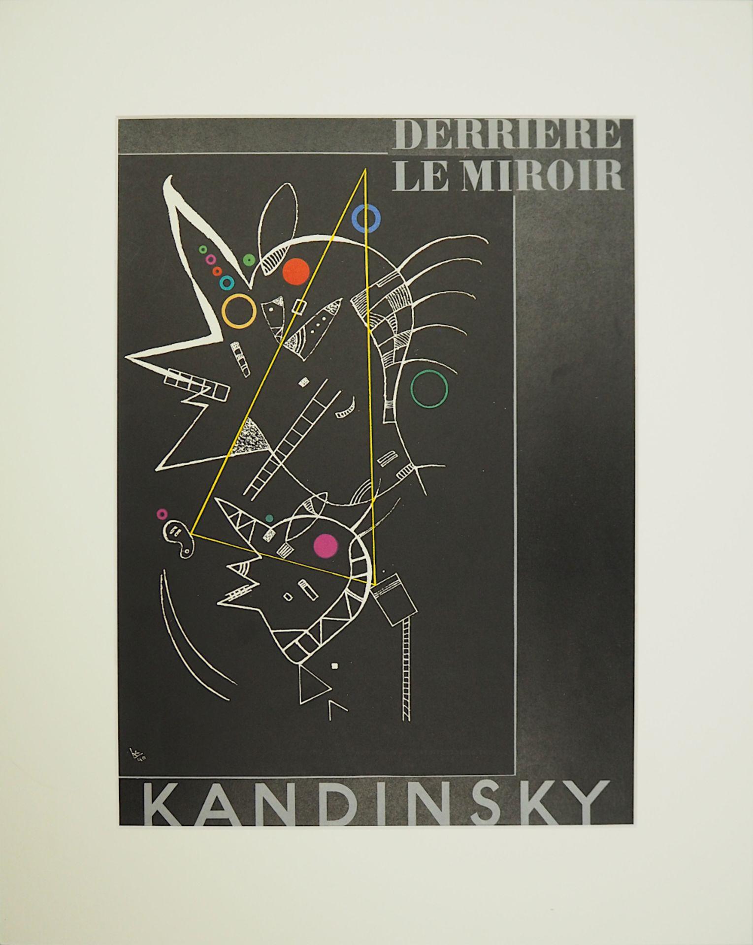 """1 Farblithographie """"Derrière le Miroir"""" unten mittig bez./rücks. zugeschr. Wassily KANDINSKY</"""