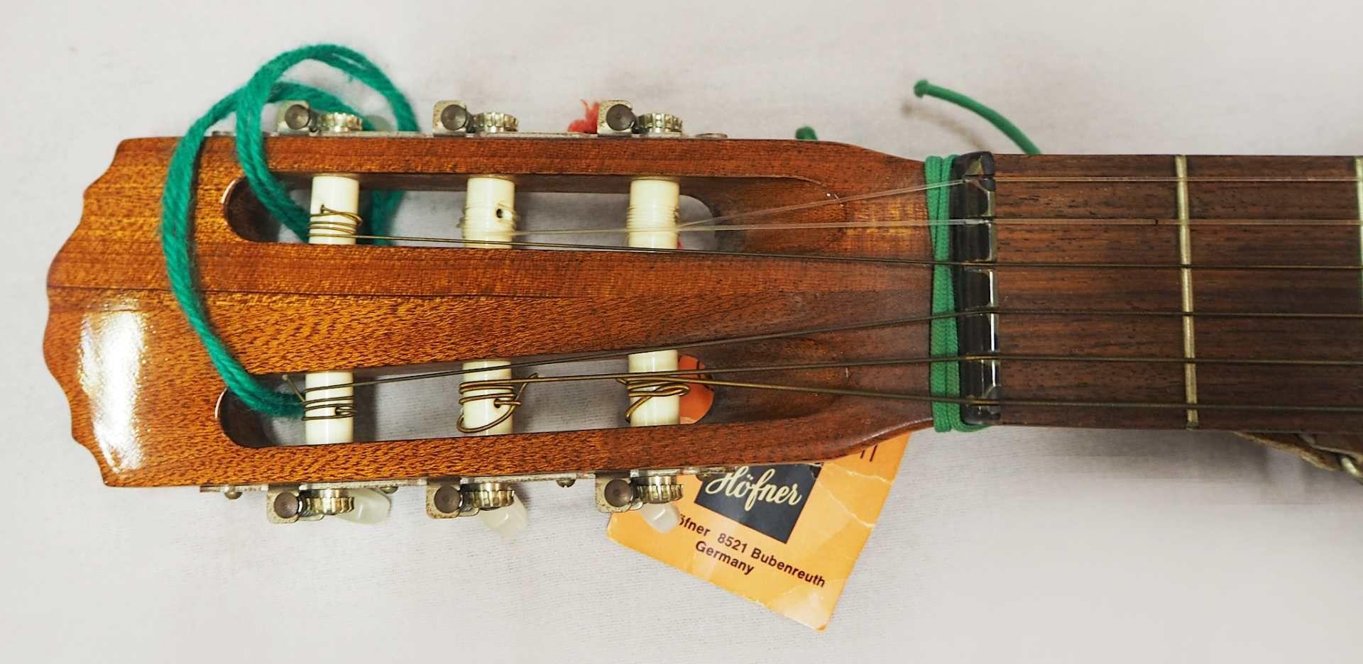 1 Konzert-Gitarre HÖFNER Modellnummer: 4840, wohl z.T. Rosenholz min. intarsiert auf - Bild 6 aus 8