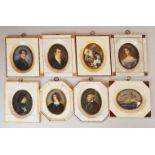 """1 Sammlung Miniaturen auf Elfenbein versch. Portraits: """"Richard Wagner"""", """"Cosima Wagne"""