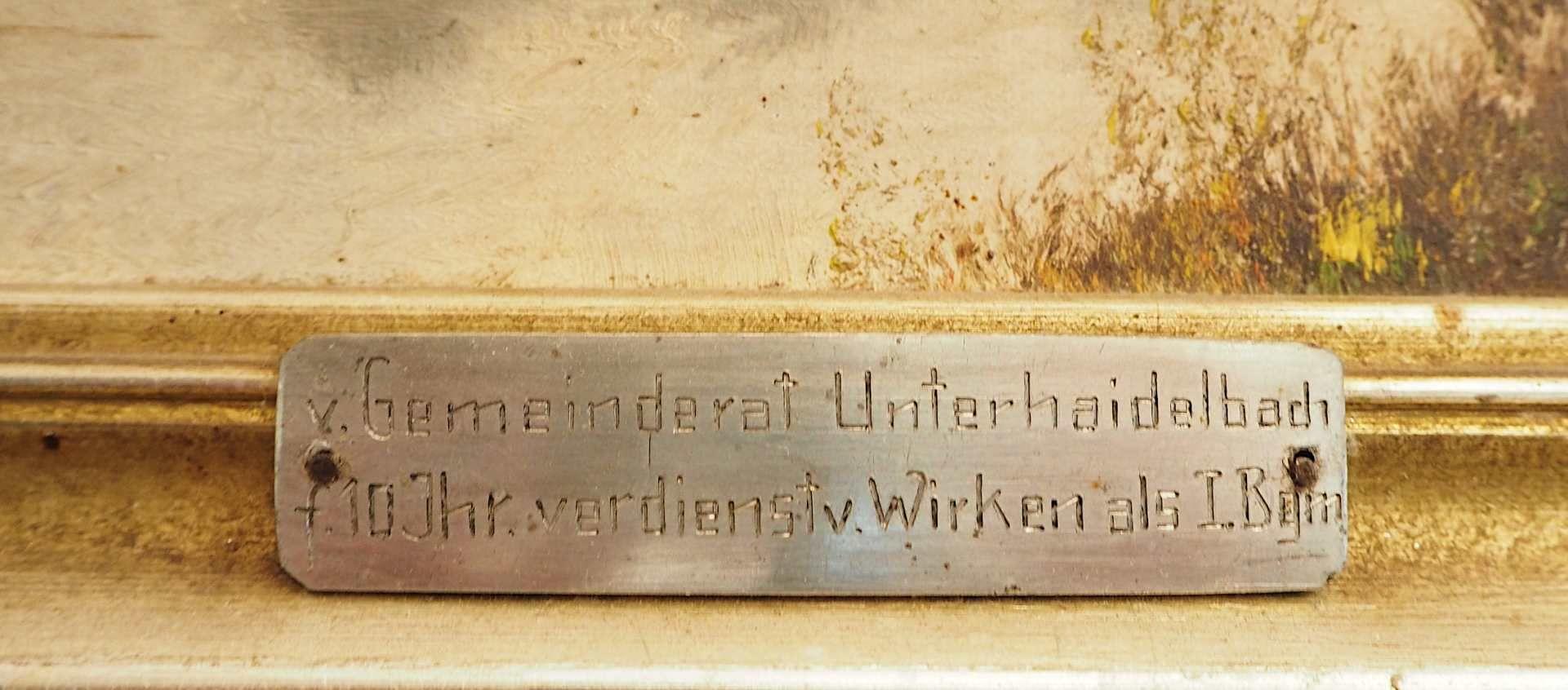 """1 Ölgemälde R.u. unles. sign. wohl FLEISCHMANN (20.Jh.) """"Herbst in den Voralpen"""", Ö - Bild 4 aus 5"""