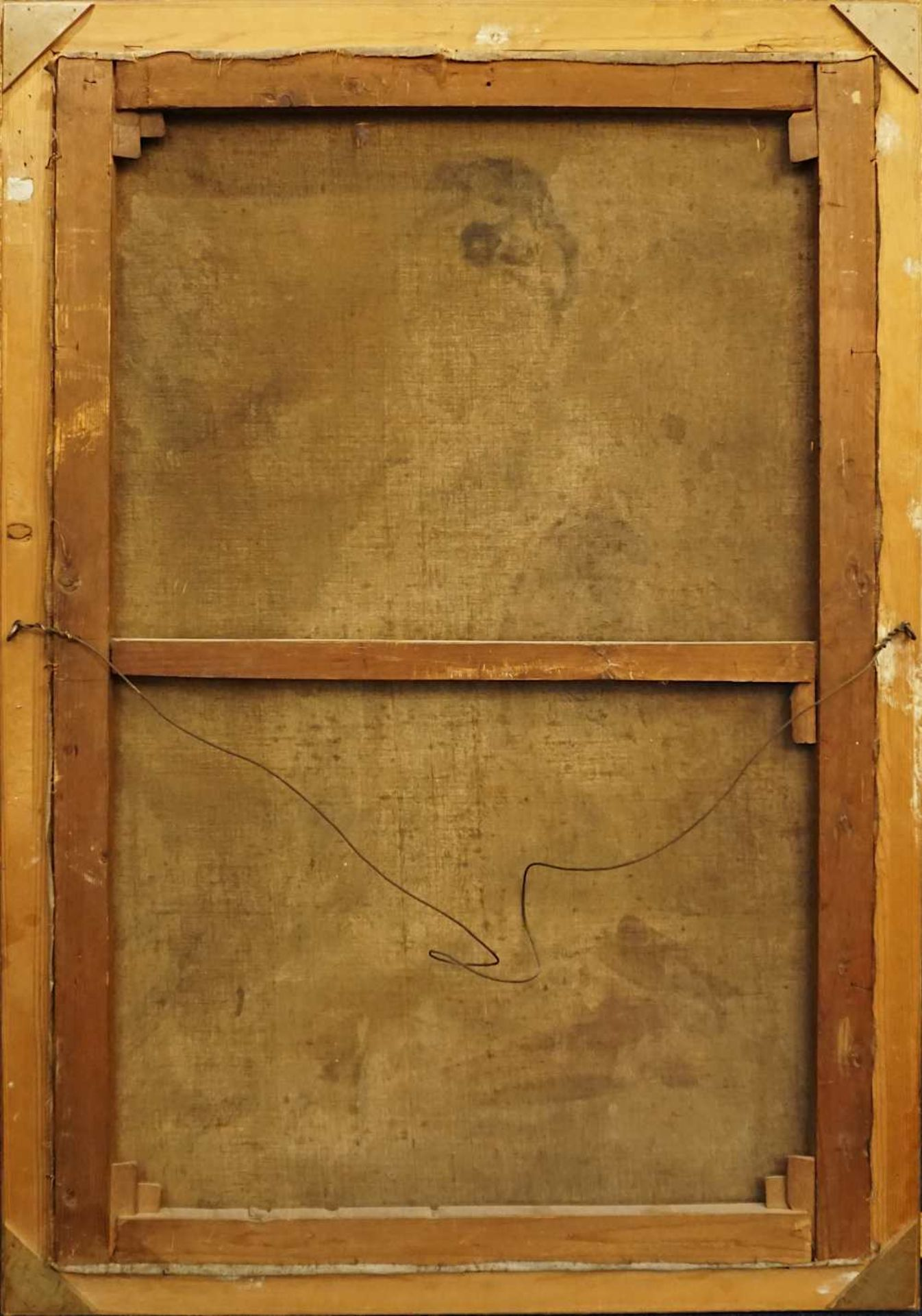 "1 Ölgemälde ""Dame mit Pelzschal"" L.o. sign. G. HAID (wohl Georg H. 1861-1935) R.o. w - Bild 4 aus 4"