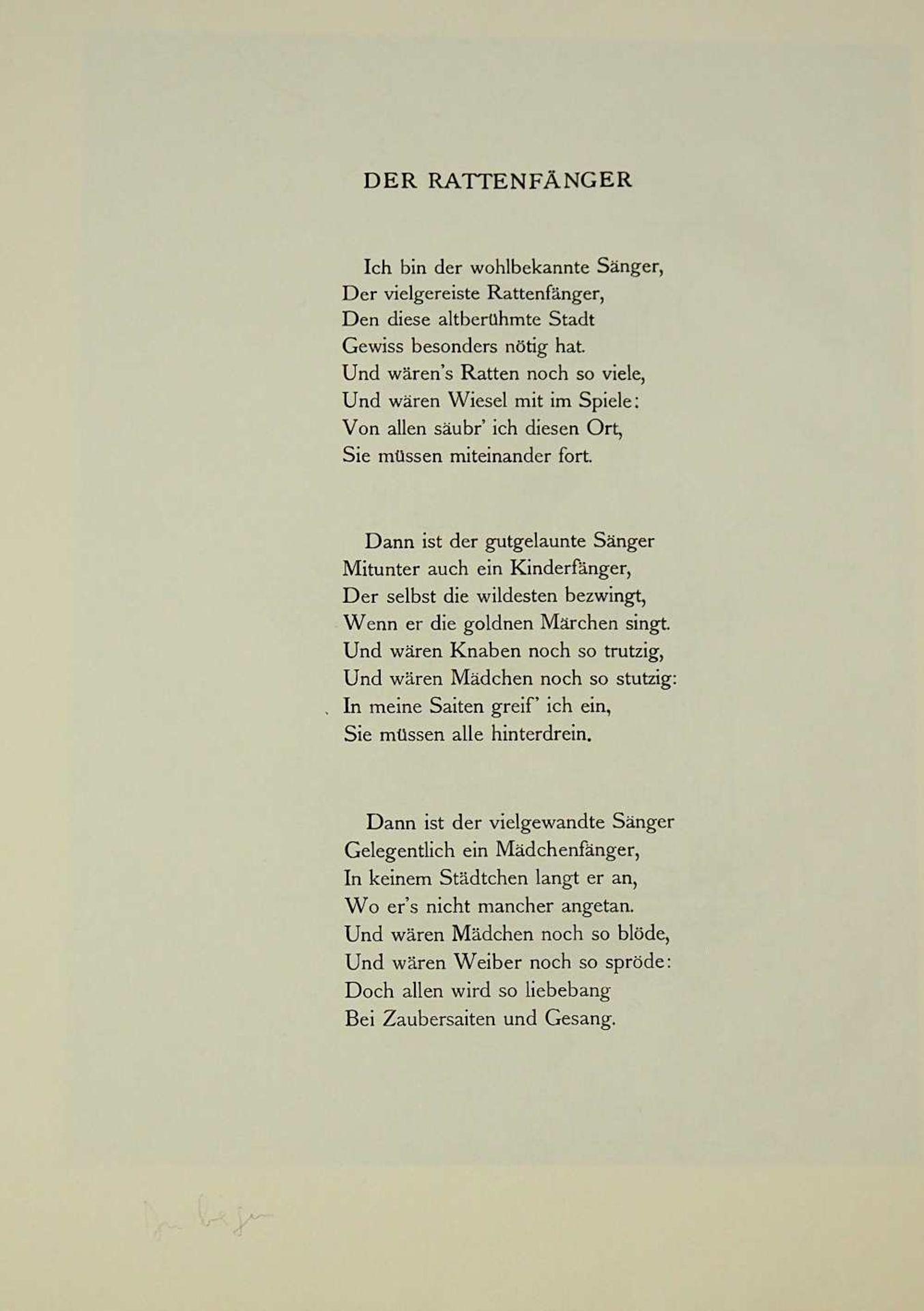 """2 Lithographien """"Sehnsucht"""" und """"Anliegen"""" rücks. zugeschrieben Hans MEID (wohl 1883- - Bild 5 aus 5"""