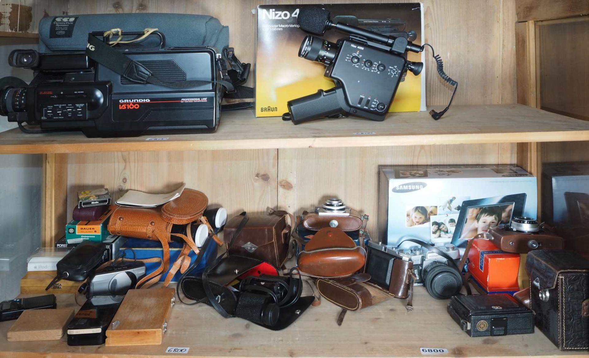 "1 Konv. Fotoapparate AGFA ""Optima 500"" sowie ""Optima III""; ZEISSIKON ""Box-Tengor""; MINOLTA ""SRT - Bild 2 aus 2"