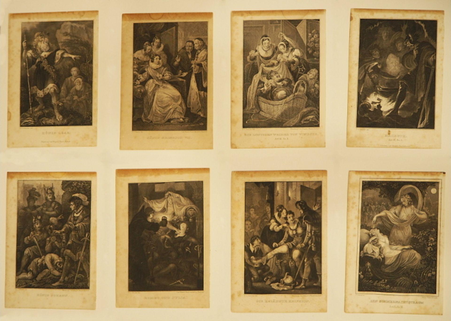 """Konvolut Stahlstiche """"Szenen aus Shakespeare"""", L.u. signiert P.C. GEISSLER (wohl Peter - Bild 3 aus 3"""