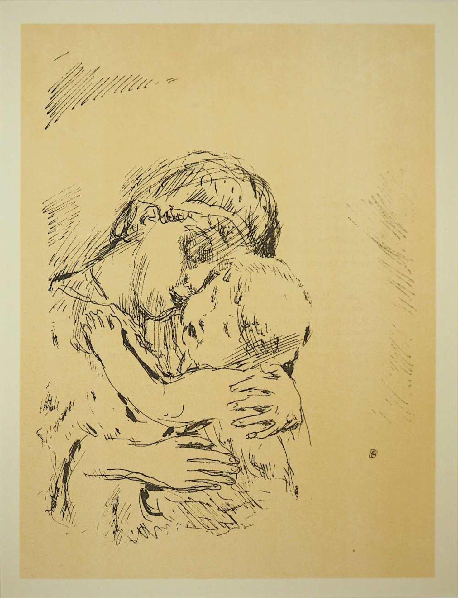 """2 Lithographien """"Couple"""" und """"Saint Monique"""" je rücks. zugeschrieben Pierre BONNARD ( - Bild 3 aus 5"""