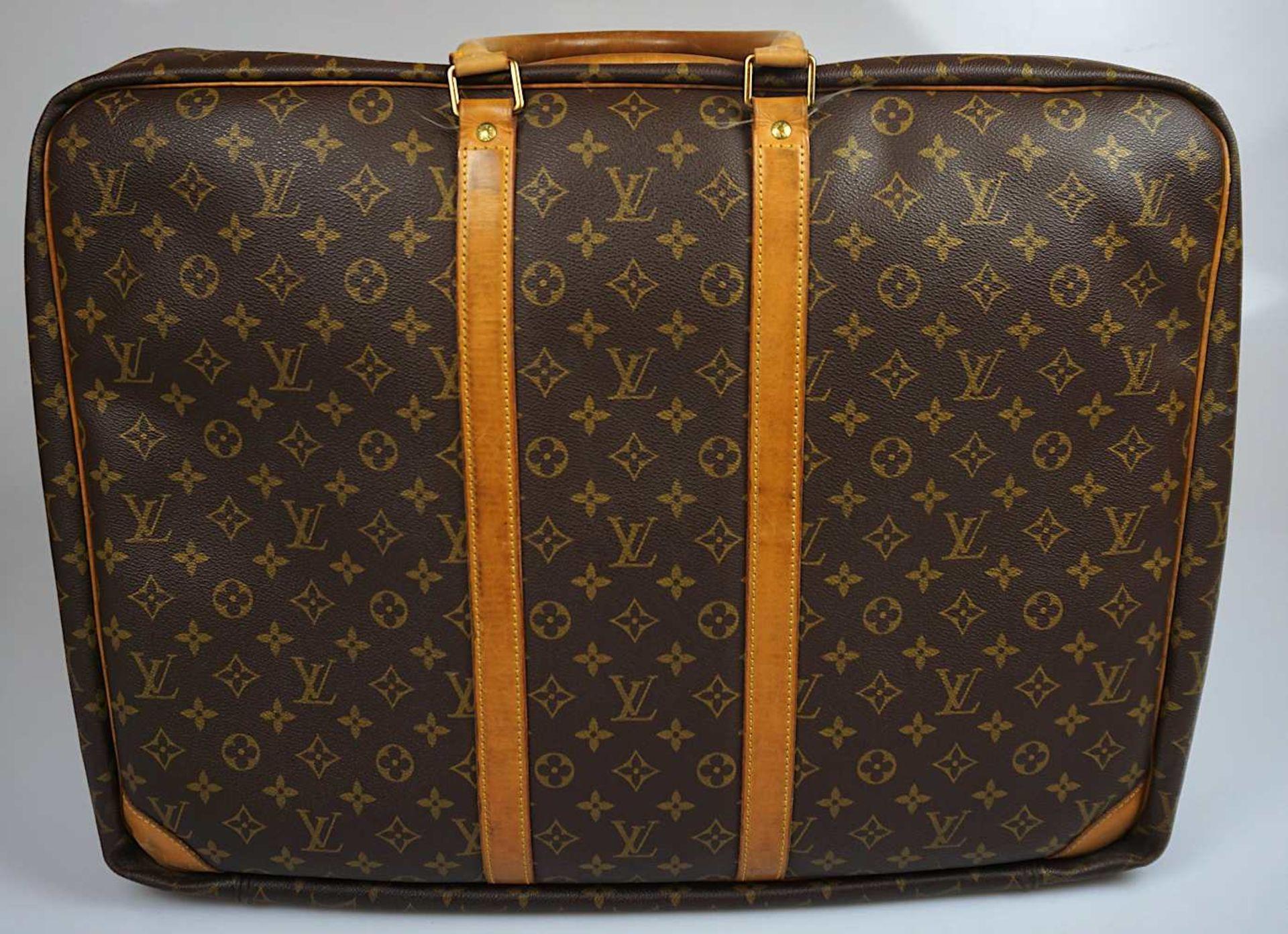 """1 Reisegepäckstück/Koffer LOUIS VUITTON ca. 41x54cm personalisiert """"D.D."""" sichtbare Gsp. < - Bild 2 aus 2"""