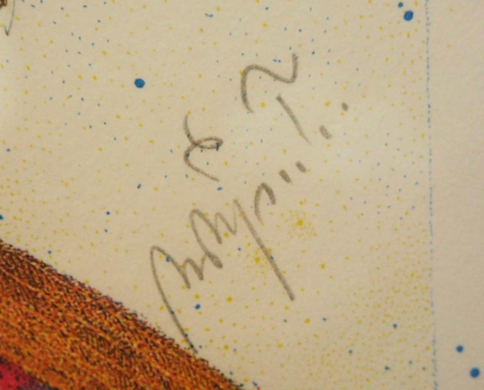 1 Farblithografie Mitte rechts bleistiftsign. M. M. PRECHTL (wohl Michael Mathias P. 1926-2003), - Bild 3 aus 4