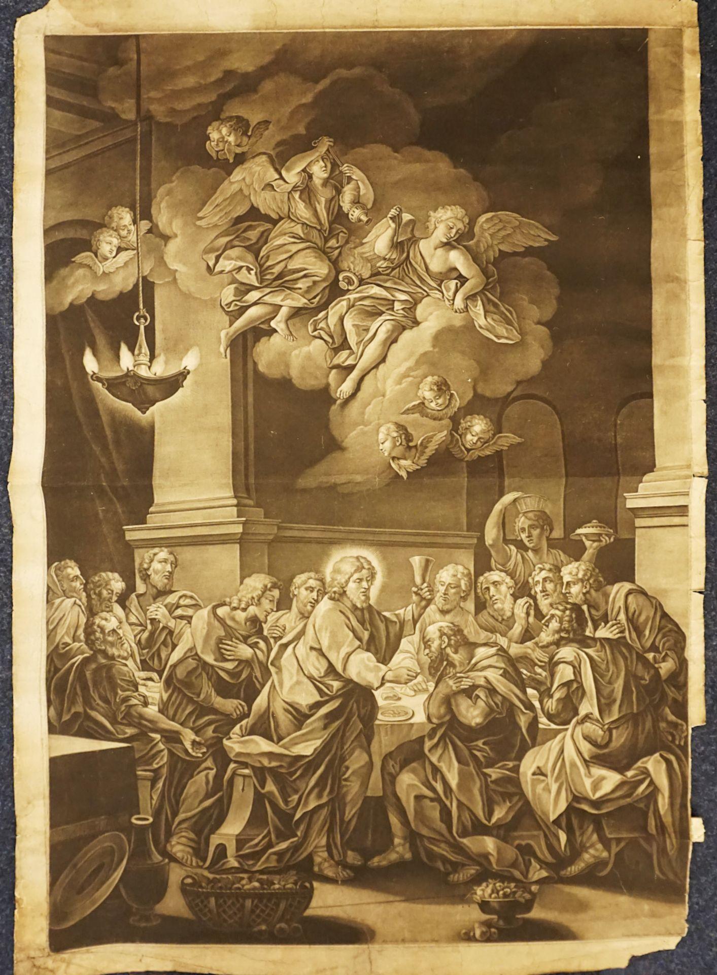 2 in Augsburg entstandene Grafiken der 1. Hälfte des 18. Jh.: 1 Thesenblatt anlässli - Bild 3 aus 4