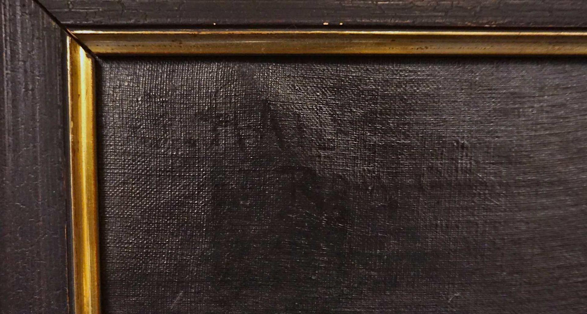 "1 Ölgemälde ""Dame mit Pelzschal"" L.o. sign. G. HAID (wohl Georg H. 1861-1935) R.o. w - Bild 3 aus 4"