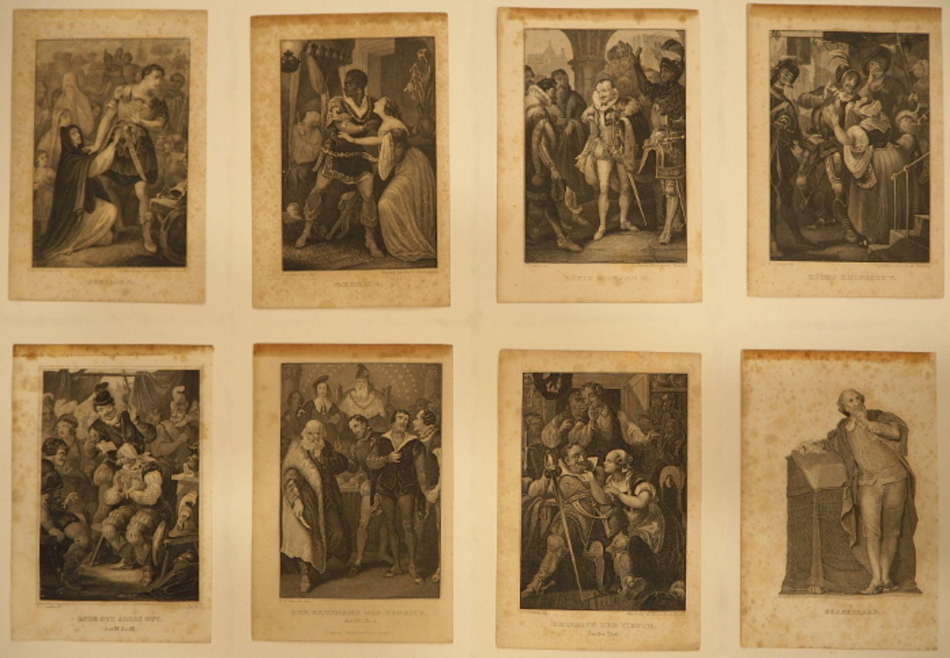 """Konvolut Stahlstiche """"Szenen aus Shakespeare"""", L.u. signiert P.C. GEISSLER (wohl Peter - Bild 2 aus 3"""