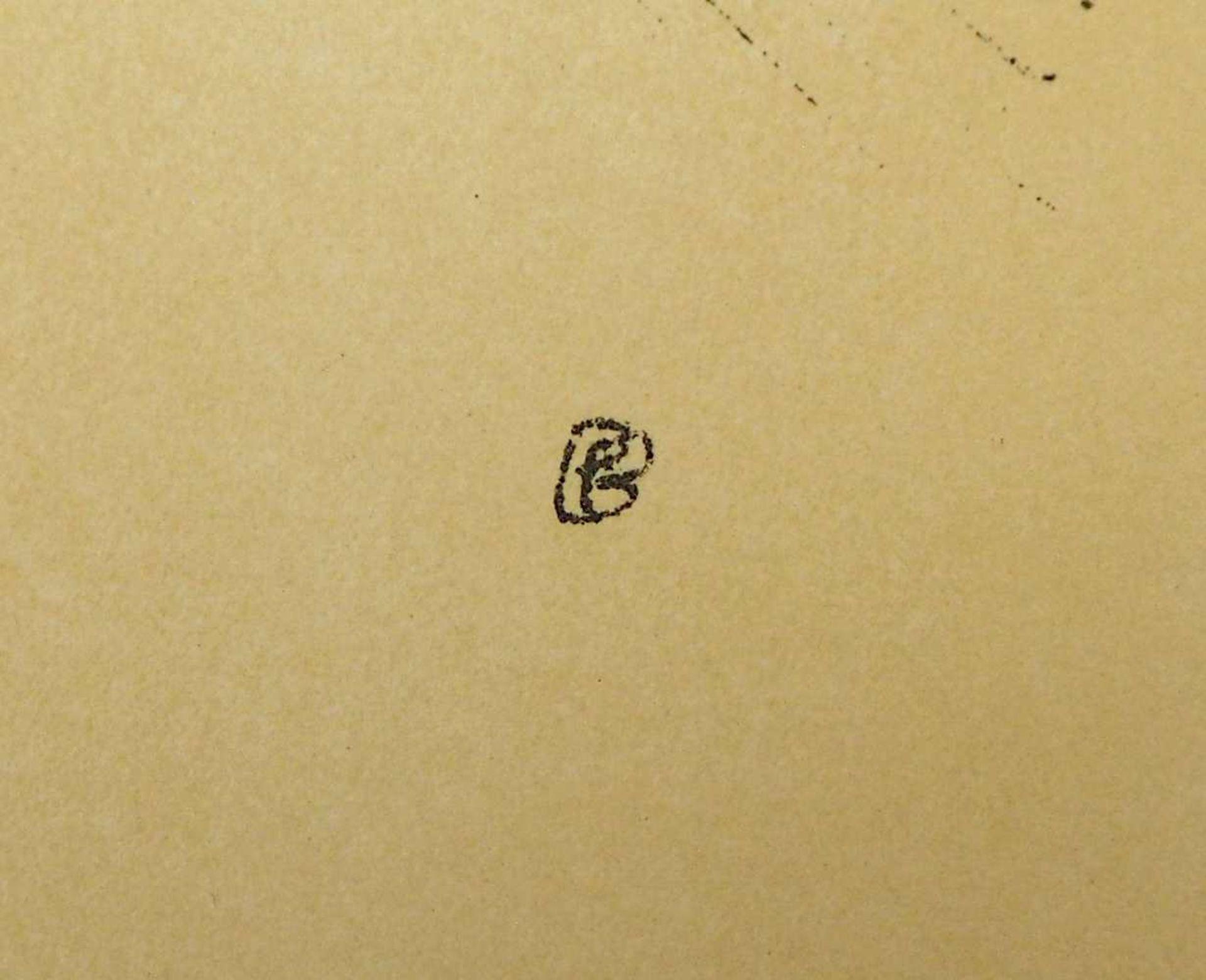 """2 Lithographien """"Couple"""" und """"Saint Monique"""" je rücks. zugeschrieben Pierre BONNARD ( - Bild 4 aus 5"""