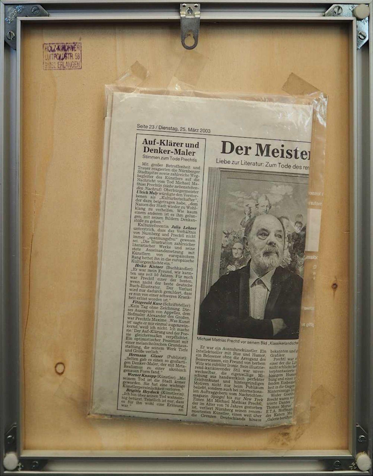 1 Farblithografie Mitte rechts bleistiftsign. M. M. PRECHTL (wohl Michael Mathias P. 1926-2003), - Bild 4 aus 4