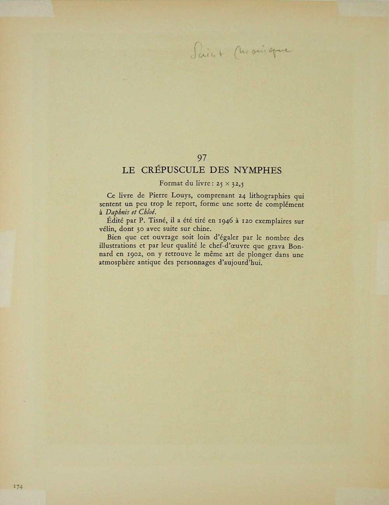 """2 Lithographien """"Couple"""" und """"Saint Monique"""" je rücks. zugeschrieben Pierre BONNARD ( - Bild 5 aus 5"""