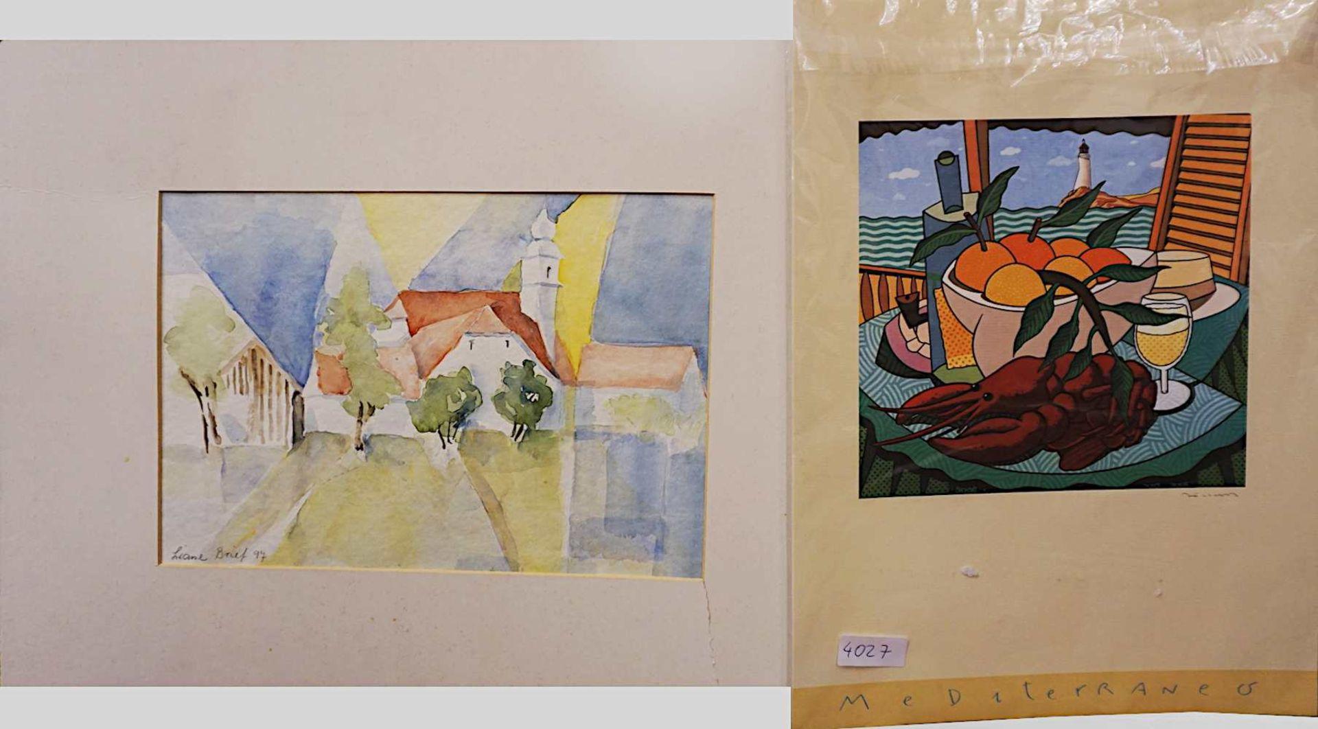 "1 Konv. Ölgemälde des 20. Jh., versch. Künstler, z.T. sign. F. RAHM: ""Beschattete A - Bild 5 aus 5"