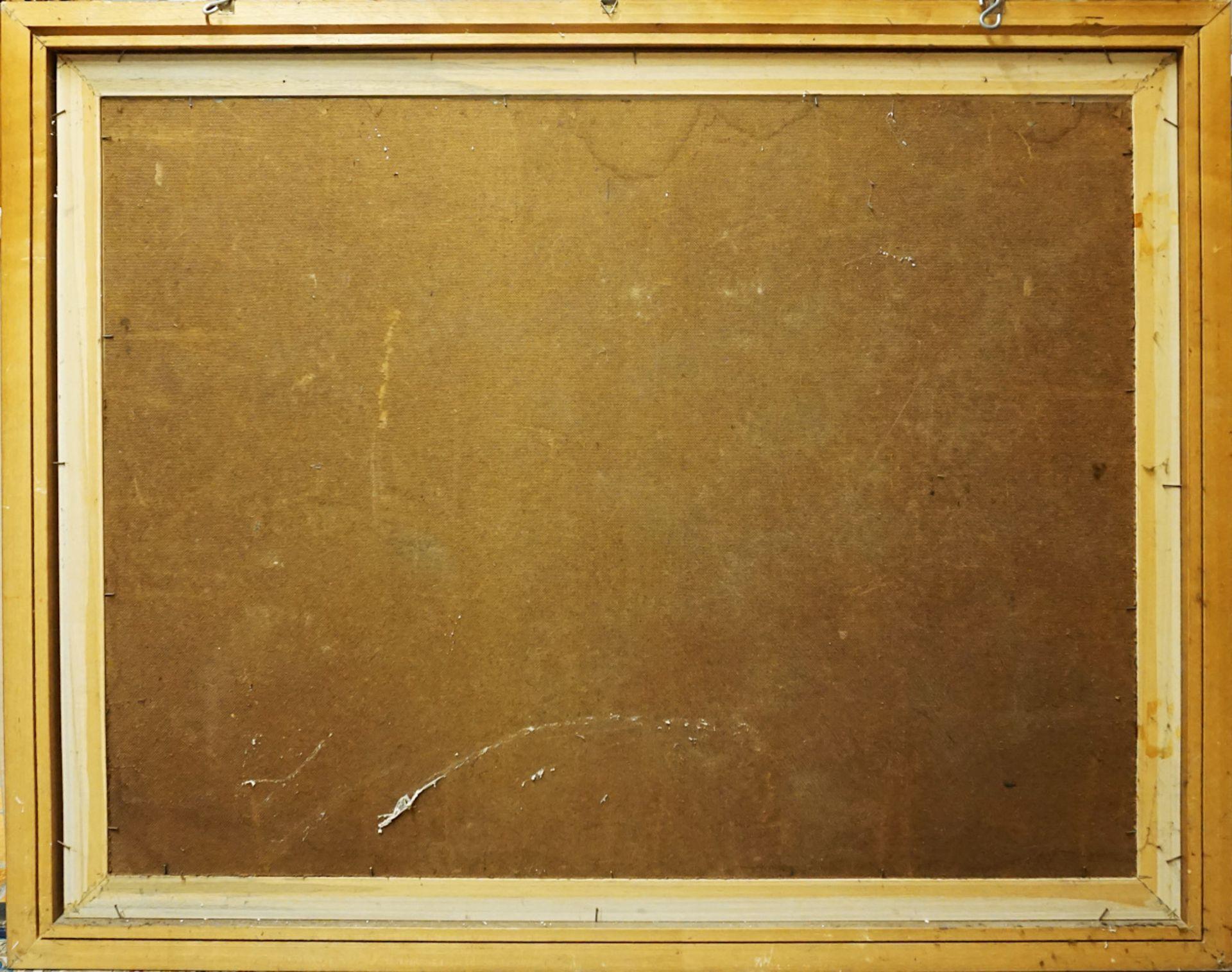 """1 Ölgemälde """"Gebirgsdorf im Schnee"""" R.u. sign. M. ROMANO (wohl Michele R. * 1925), d - Bild 3 aus 4"""