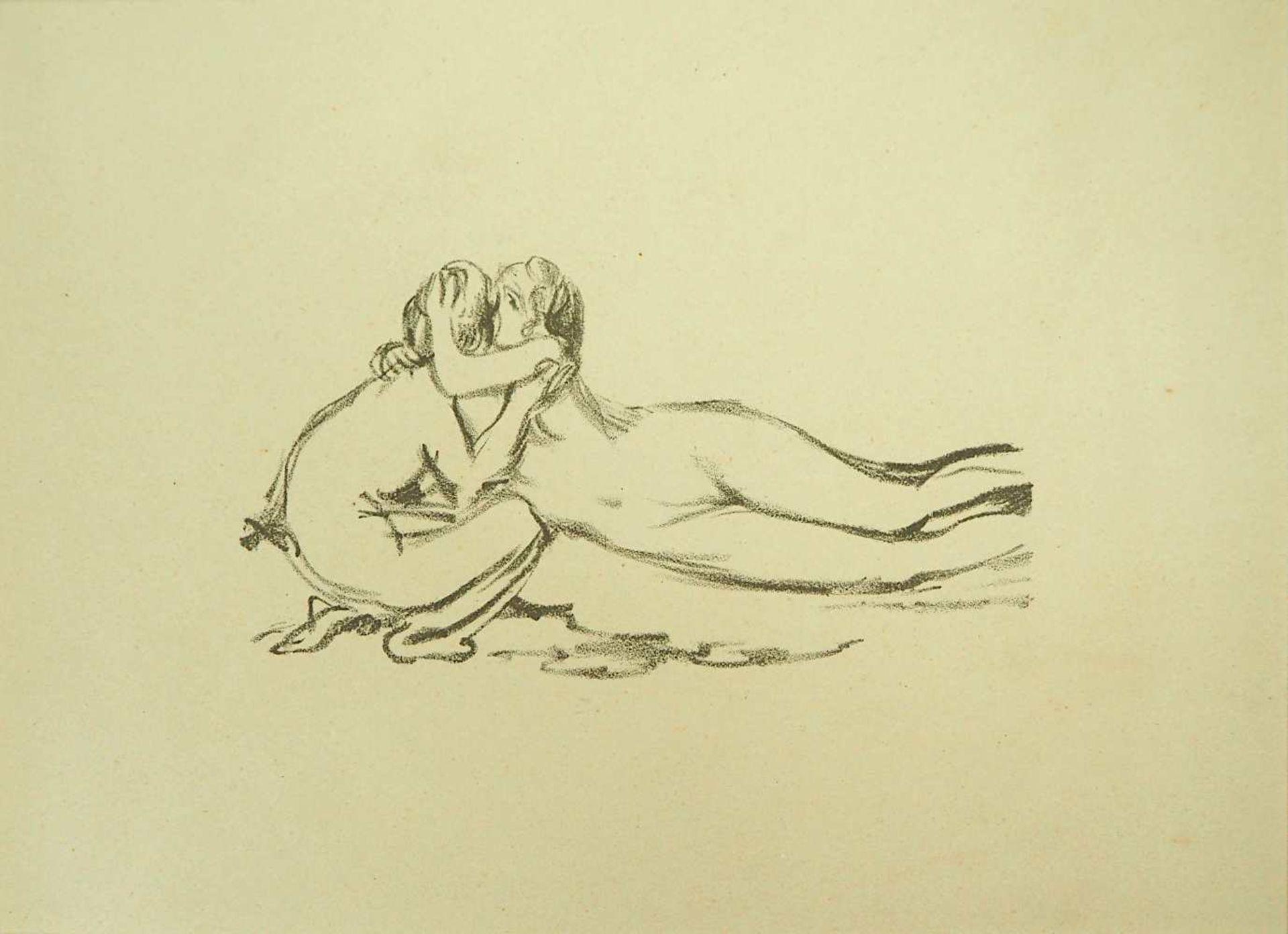 """2 Lithographien """"Couple"""" und """"Saint Monique"""" je rücks. zugeschrieben Pierre BONNARD ( - Bild 2 aus 5"""