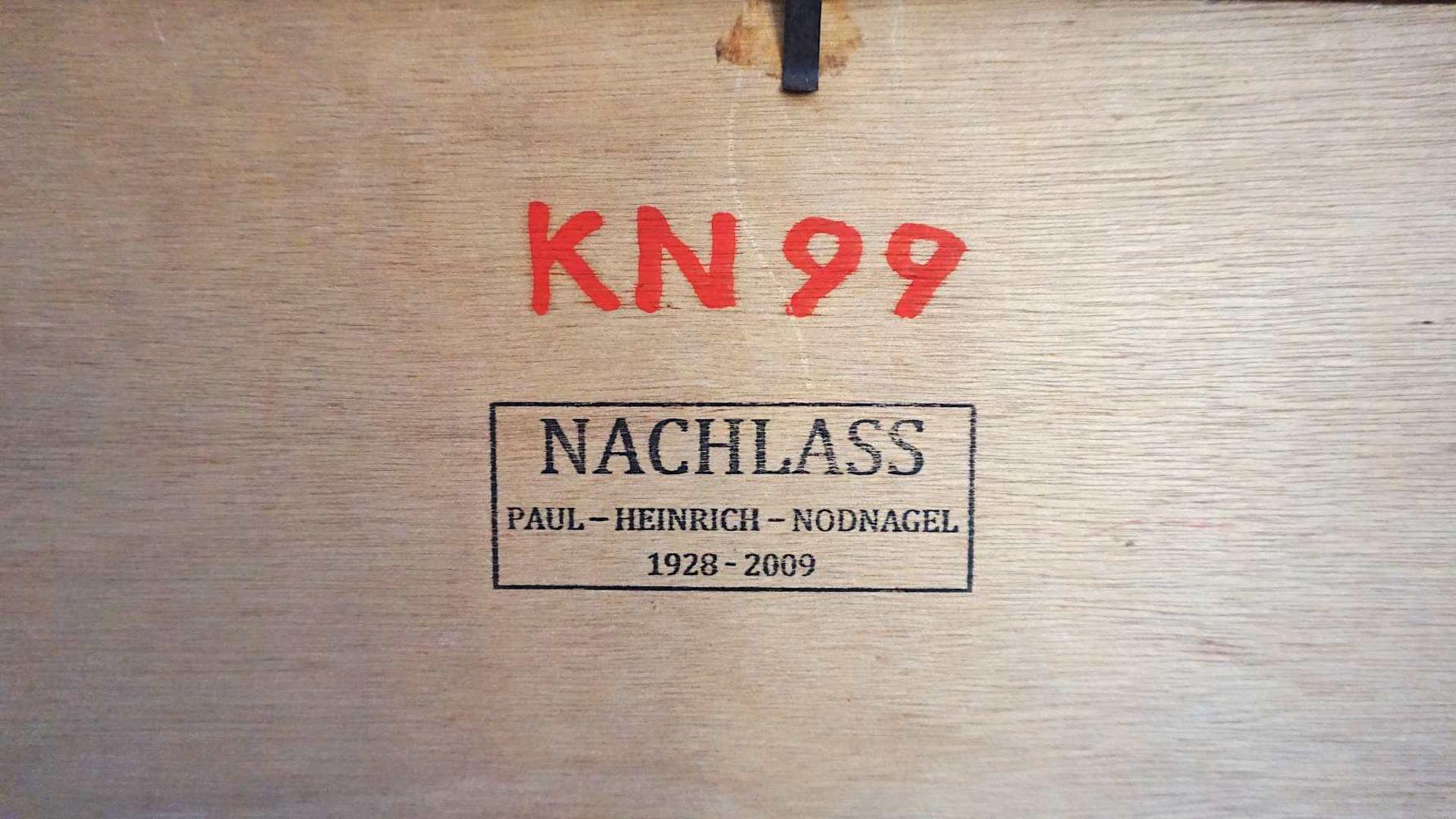 """1 Ölgemälde """"Inanna"""" R.u. monogr. PHN (wohl Paul Heinreich NODNAGEL 1928-2009) dat. - Bild 4 aus 4"""