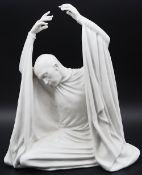 "1 Figur Porzellan ROSENTHAL, weiß, ""Nachtgesang - Harald Kreutzberg"", Entwurf Waldemar Fritsch"