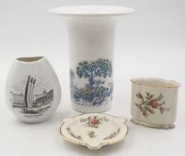 1 Vase ROSENTHAL studio-line min. goldstaff., Design: Björn WIINBLAD, ca. H 16cm Asch