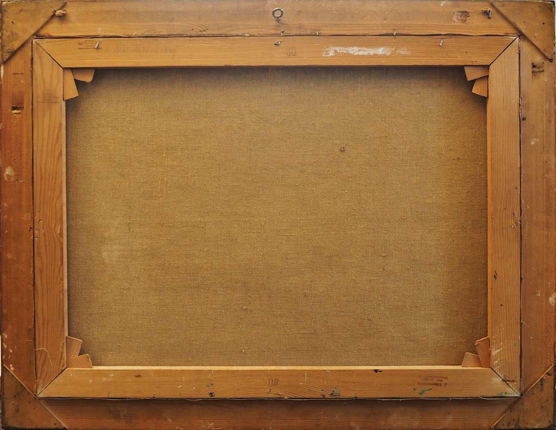 """1 Ölgemälde L.u. sign. Rolf KNOBLOCH (wohl 1891-1964), """"Ansicht von Alt-Nürnberg mit Synagoge - Bild 4 aus 5"""