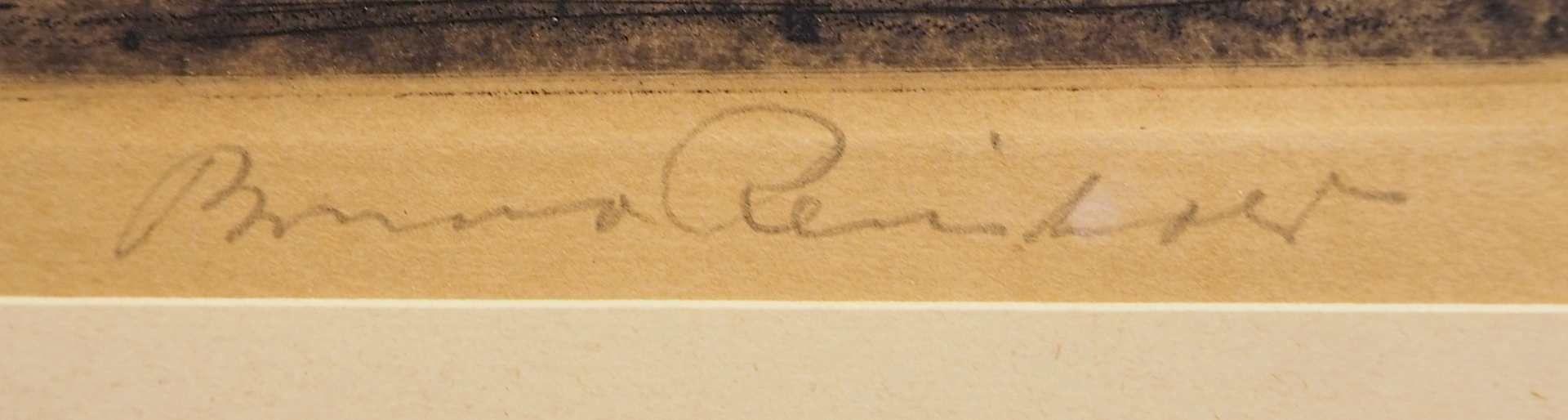 """1 Radierung L.u. betitelt """"Regensburg"""", R.u. bleistiftsign. Bruno REINHOLD (wohl 1 - Bild 3 aus 4"""