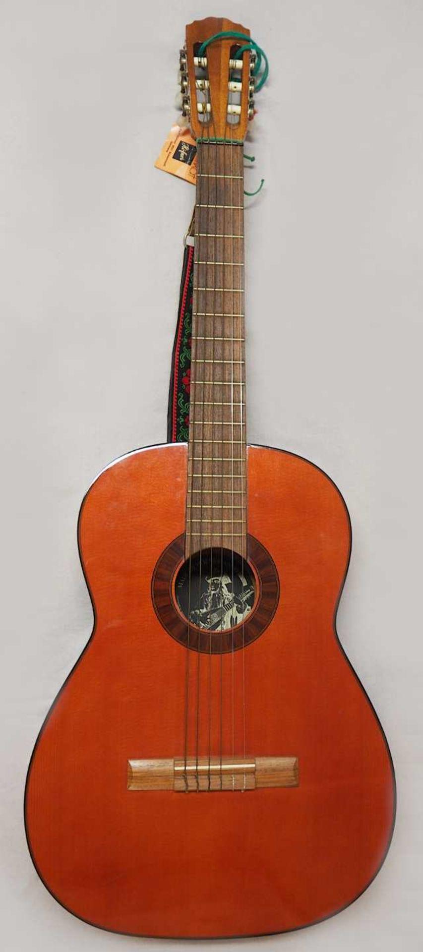 1 Konzert-Gitarre HÖFNER Modellnummer: 4840, wohl z.T. Rosenholz min. intarsiert auf