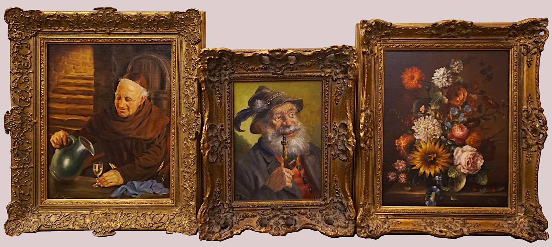 "1 Konv. Ölgemälde des 20. Jh., versch. Künstler, z.T. sign. F. RAHM: ""Beschattete A - Bild 3 aus 5"