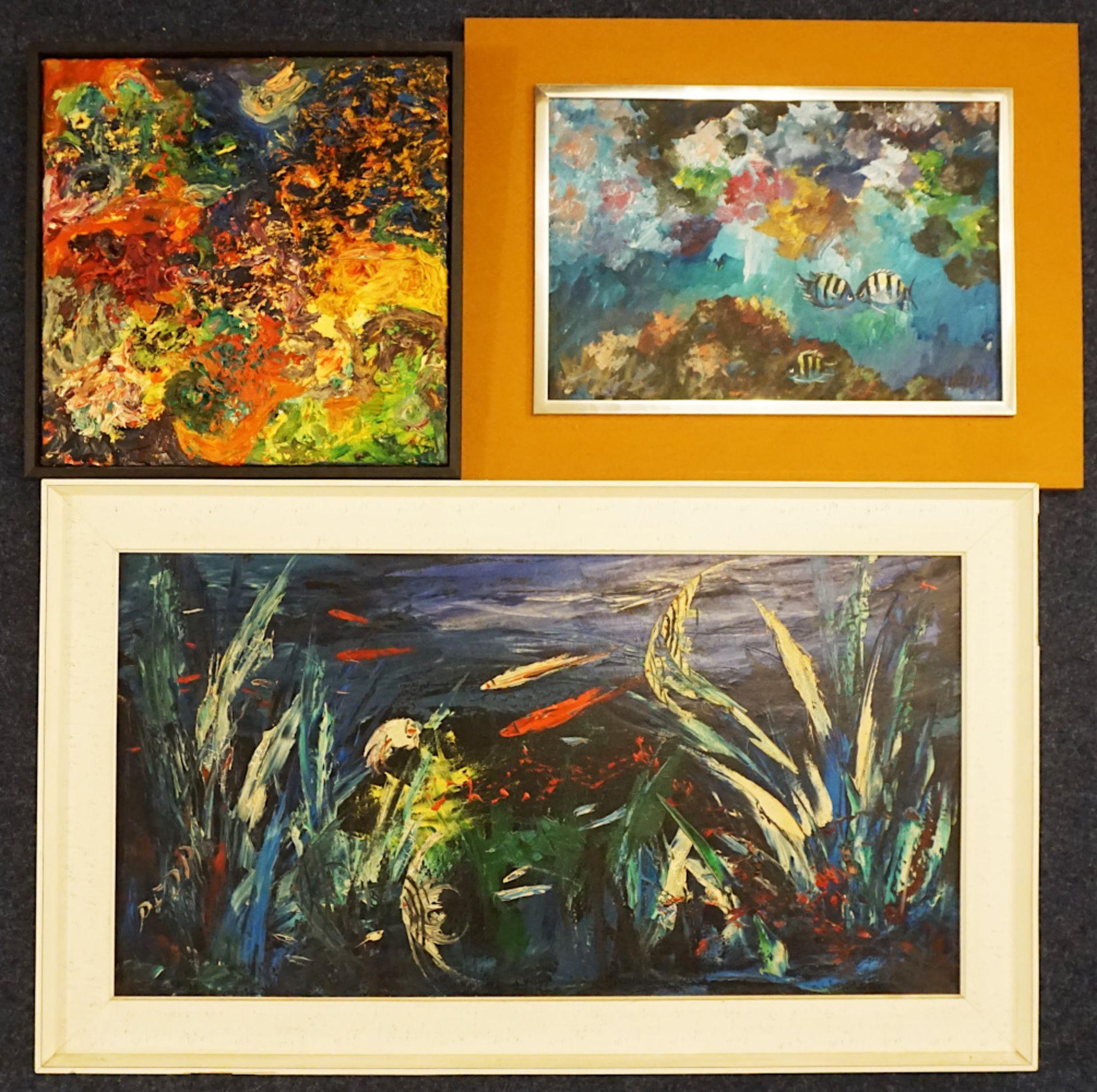 1 Konv. Ölgemälde 20. Jh. mit verschiedenen italienischen Künstlern und Motiven: z.