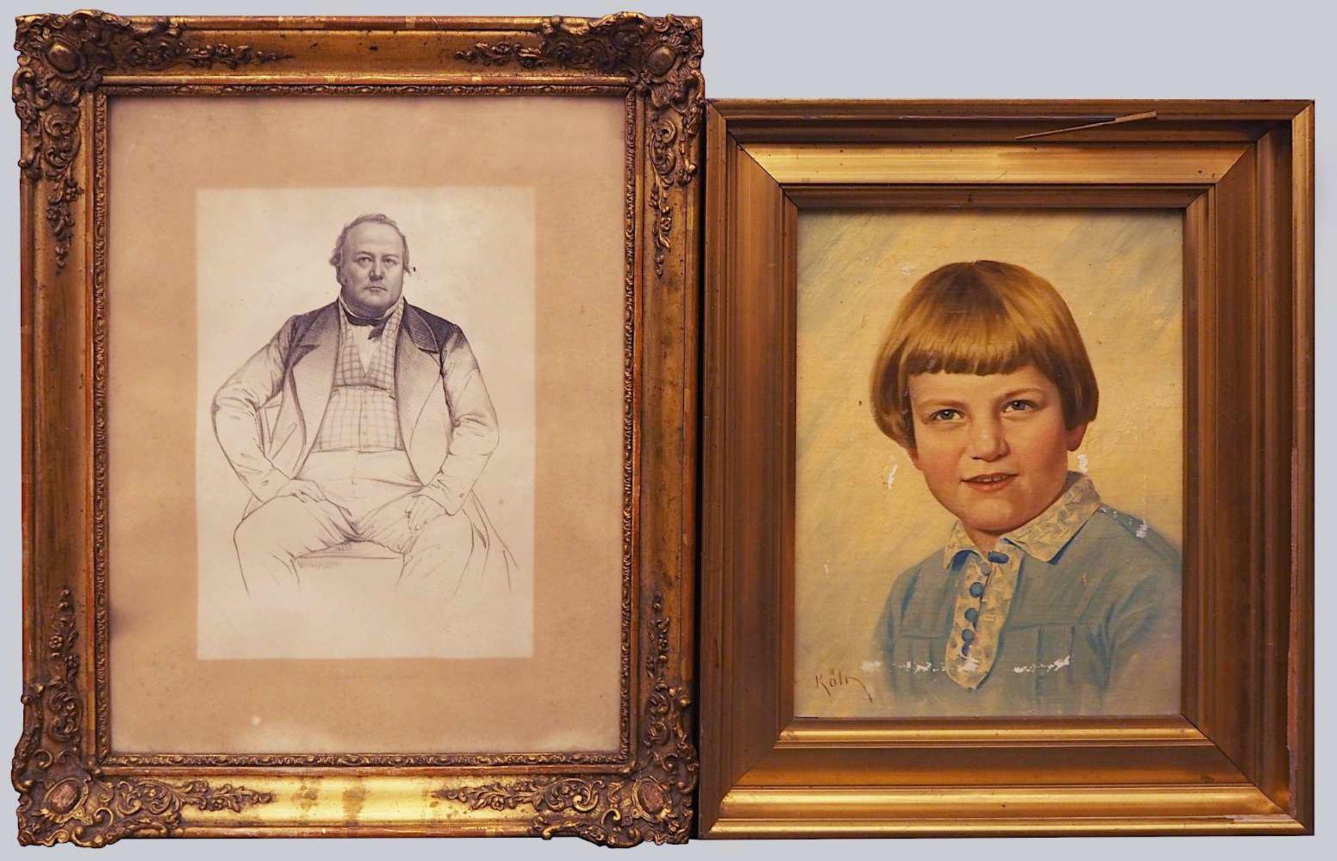 1 Konvolut Ölgemälde u.a.: Portraits von versch. Persönlichkeiten/versch. Künstler: <br - Bild 3 aus 4