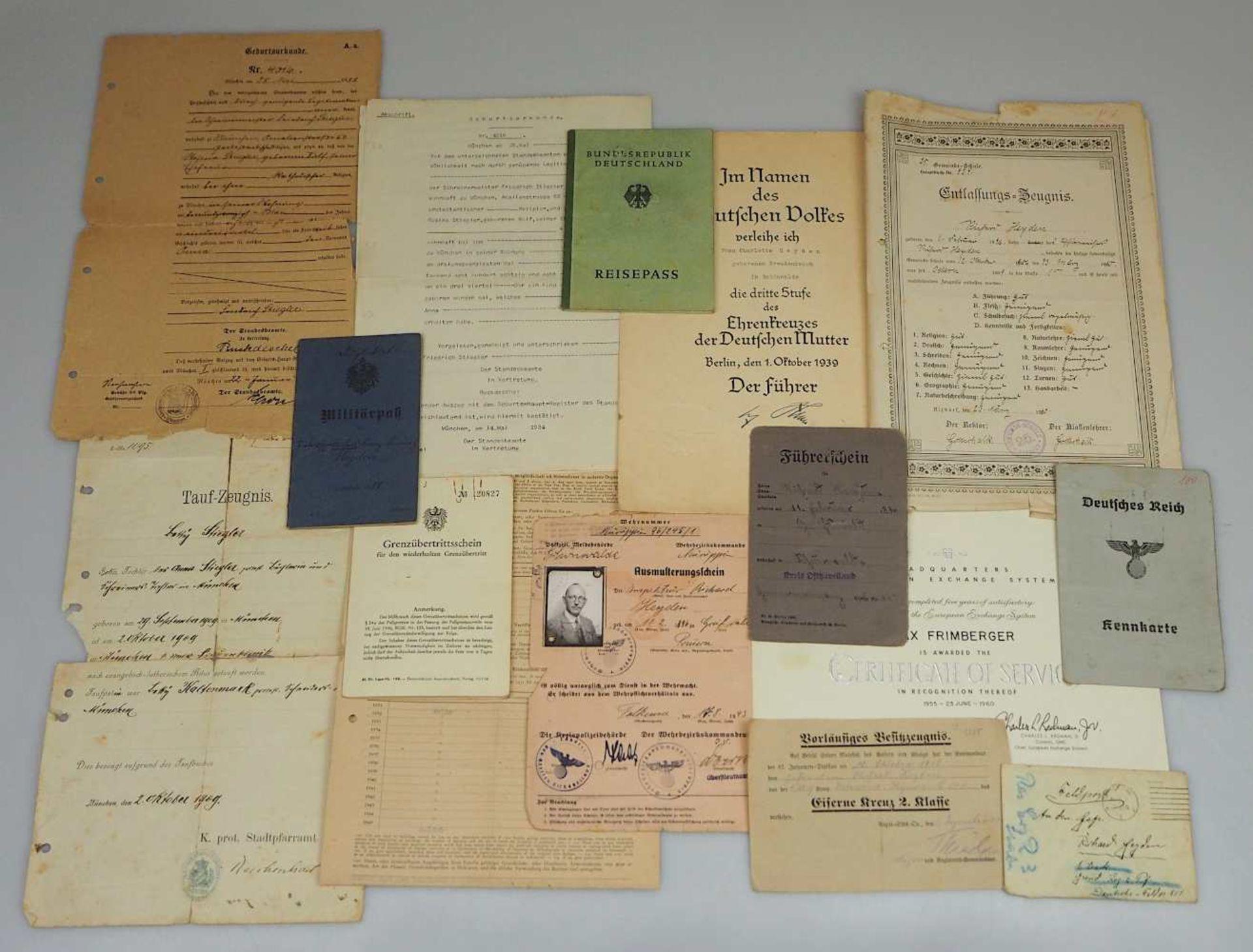 """1 Konv. Abzeichen/Anstecknadeln z.T. 3. Reich u.a. """"Mutterkreuz 3. Klasse"""" am Band (mi - Bild 3 aus 4"""