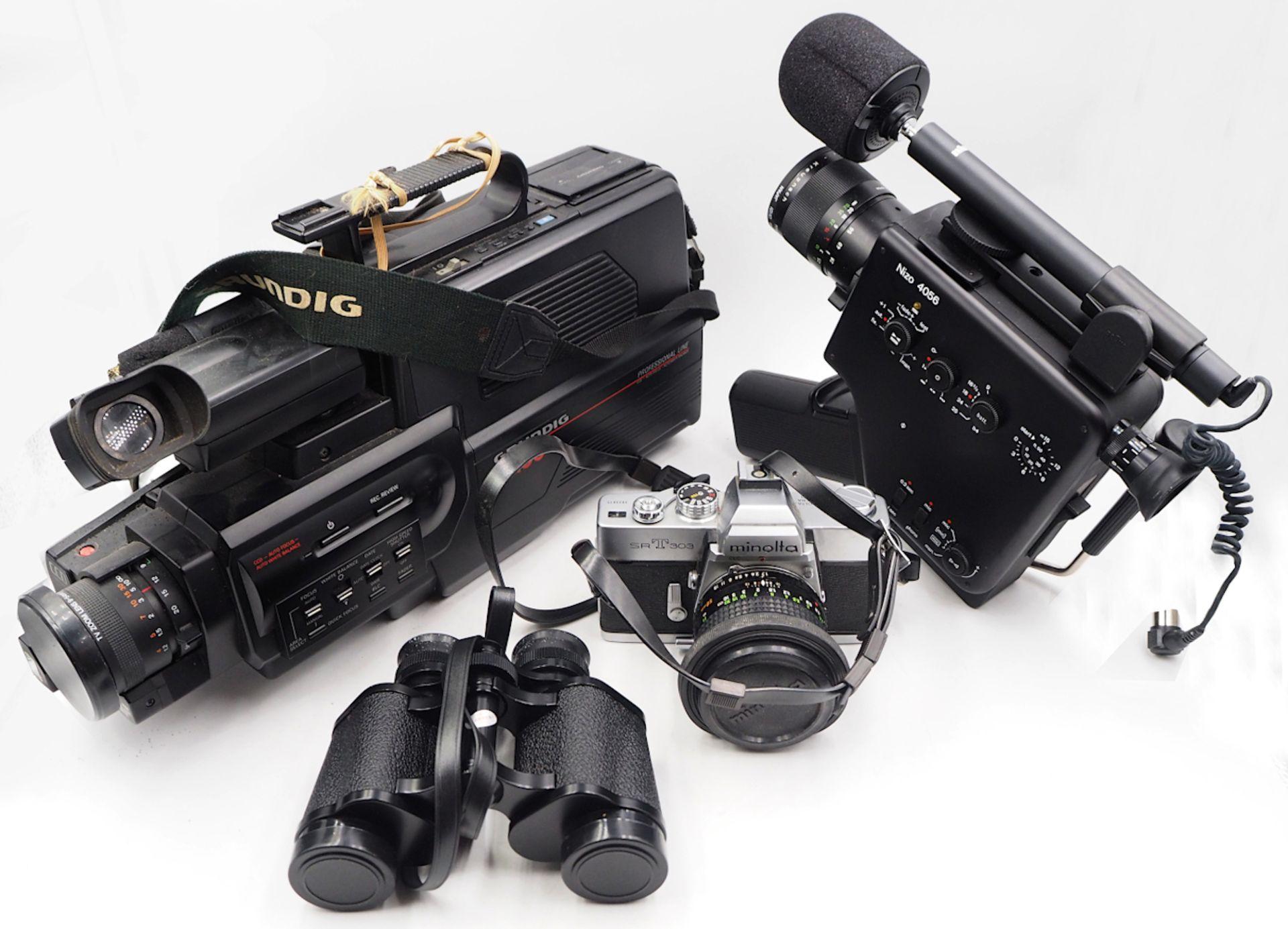 "1 Konv. Fotoapparate AGFA ""Optima 500"" sowie ""Optima III""; ZEISSIKON ""Box-Tengor""; MINOLTA ""SRT"
